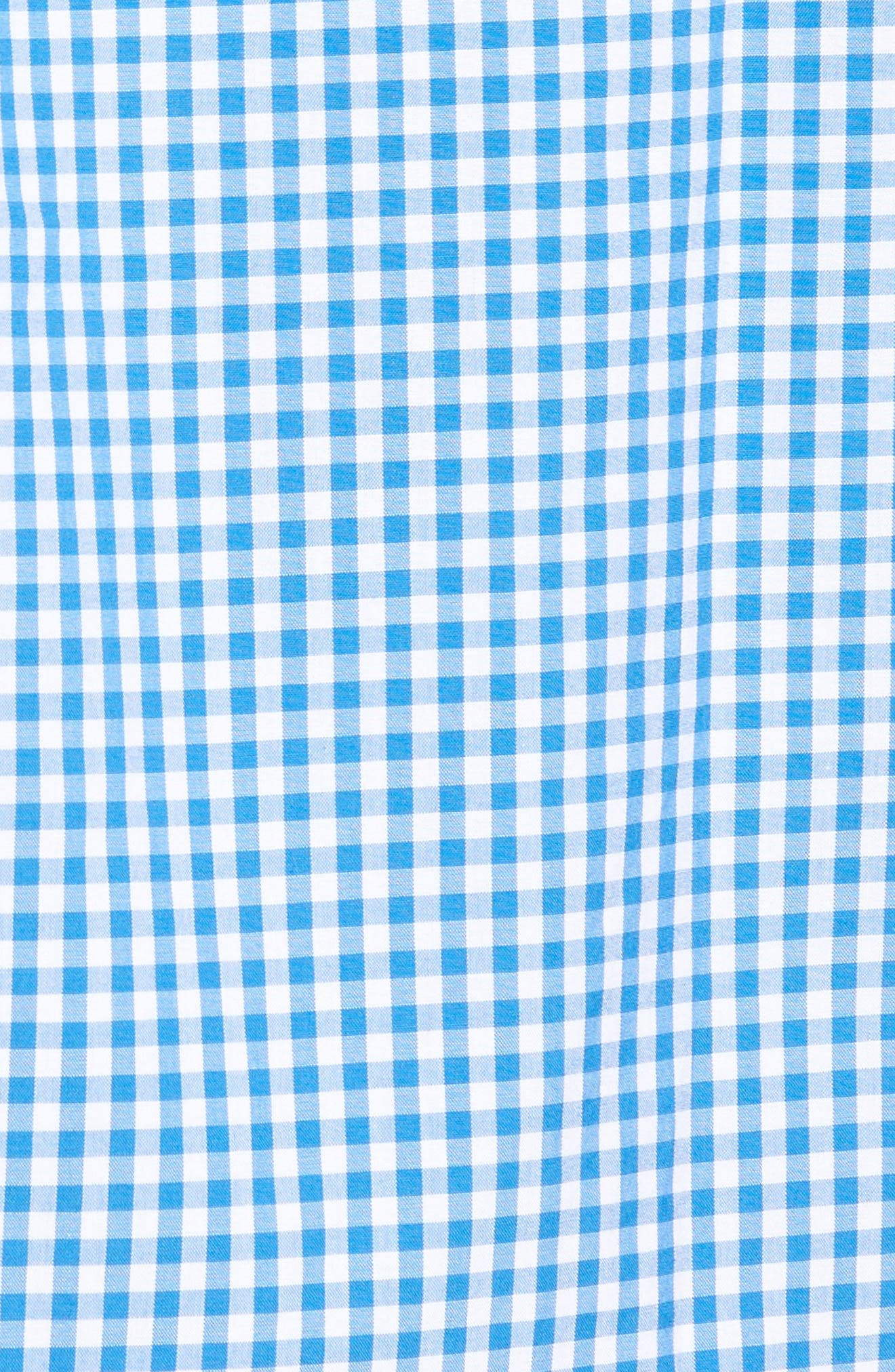 Seafloor Tucker Gingham Sport Shirt,                             Alternate thumbnail 5, color,                             Hull Blue