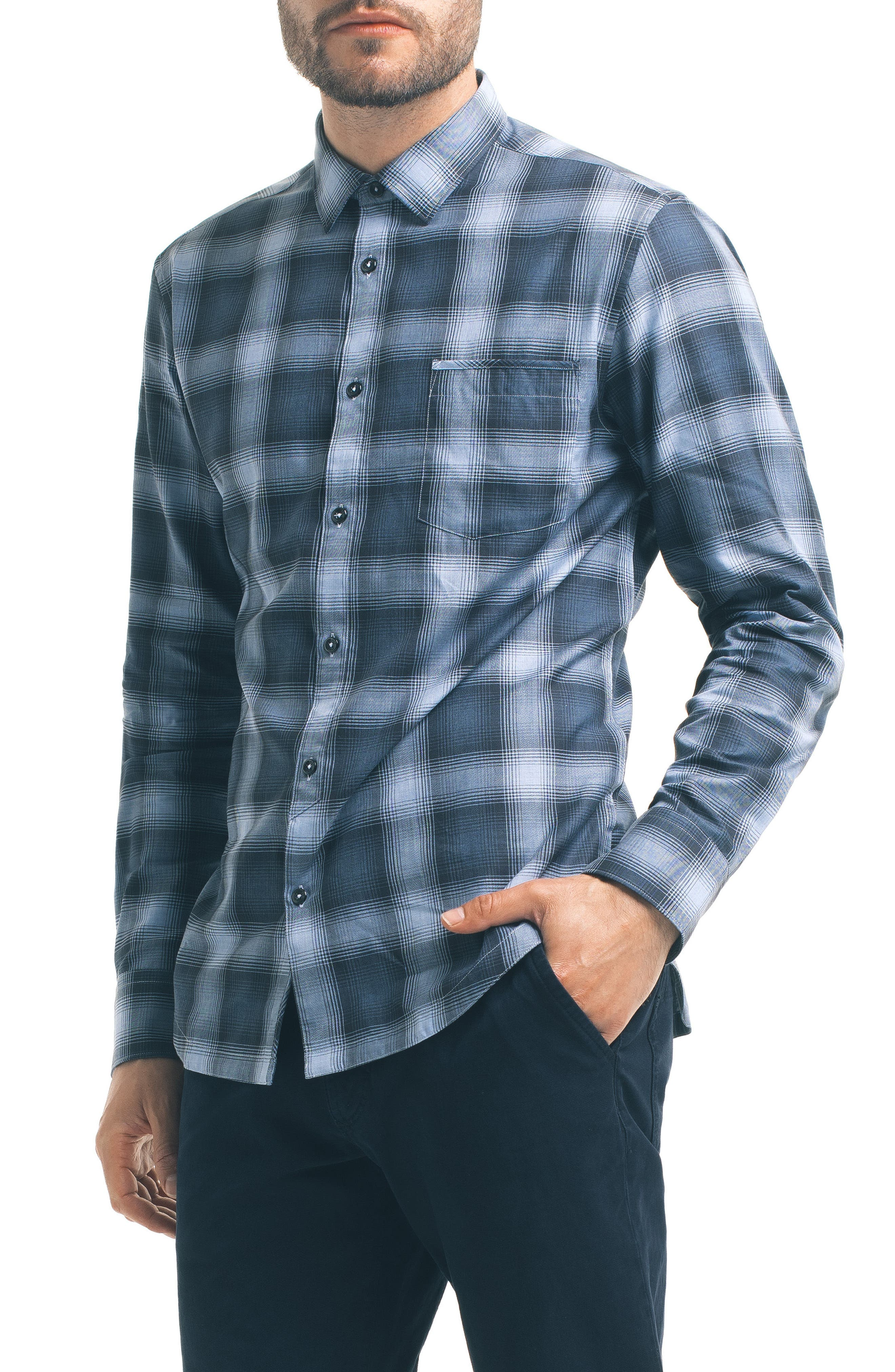 Alternate Image 1 Selected - Good Man Brand Slim Fit Plaid Sport Shirt