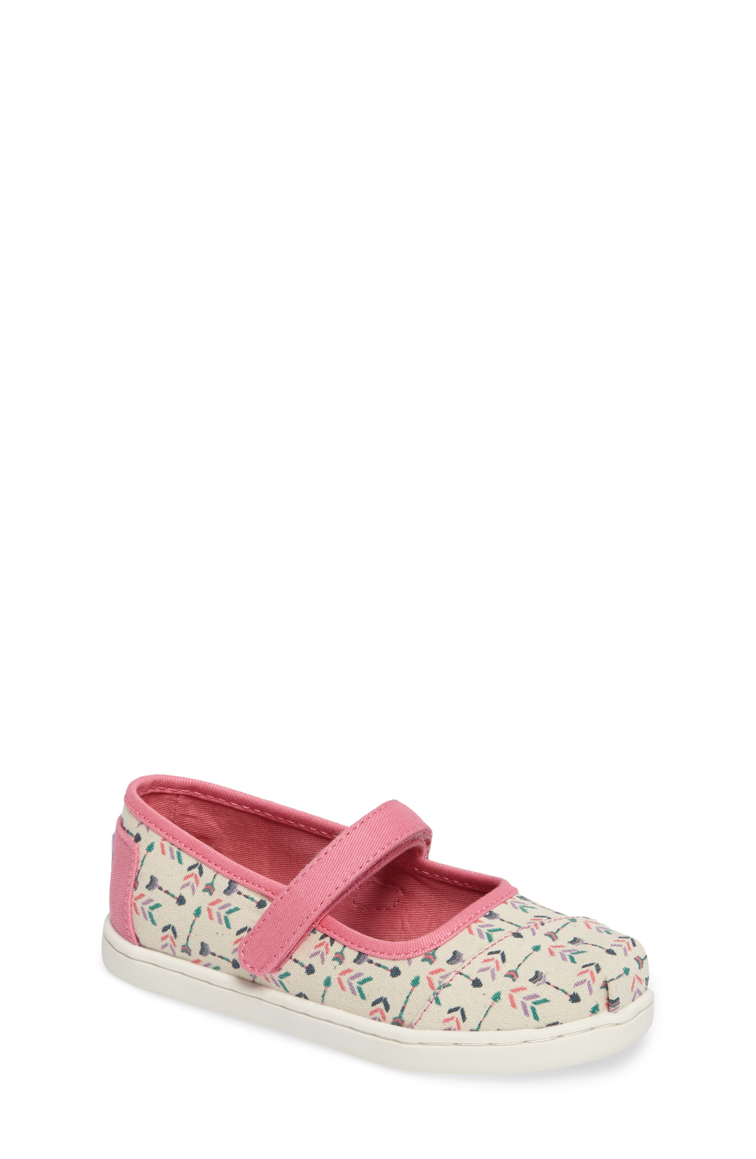 TOMS Arrow Print Mary Jane Flat (Baby, Walker & Toddler)