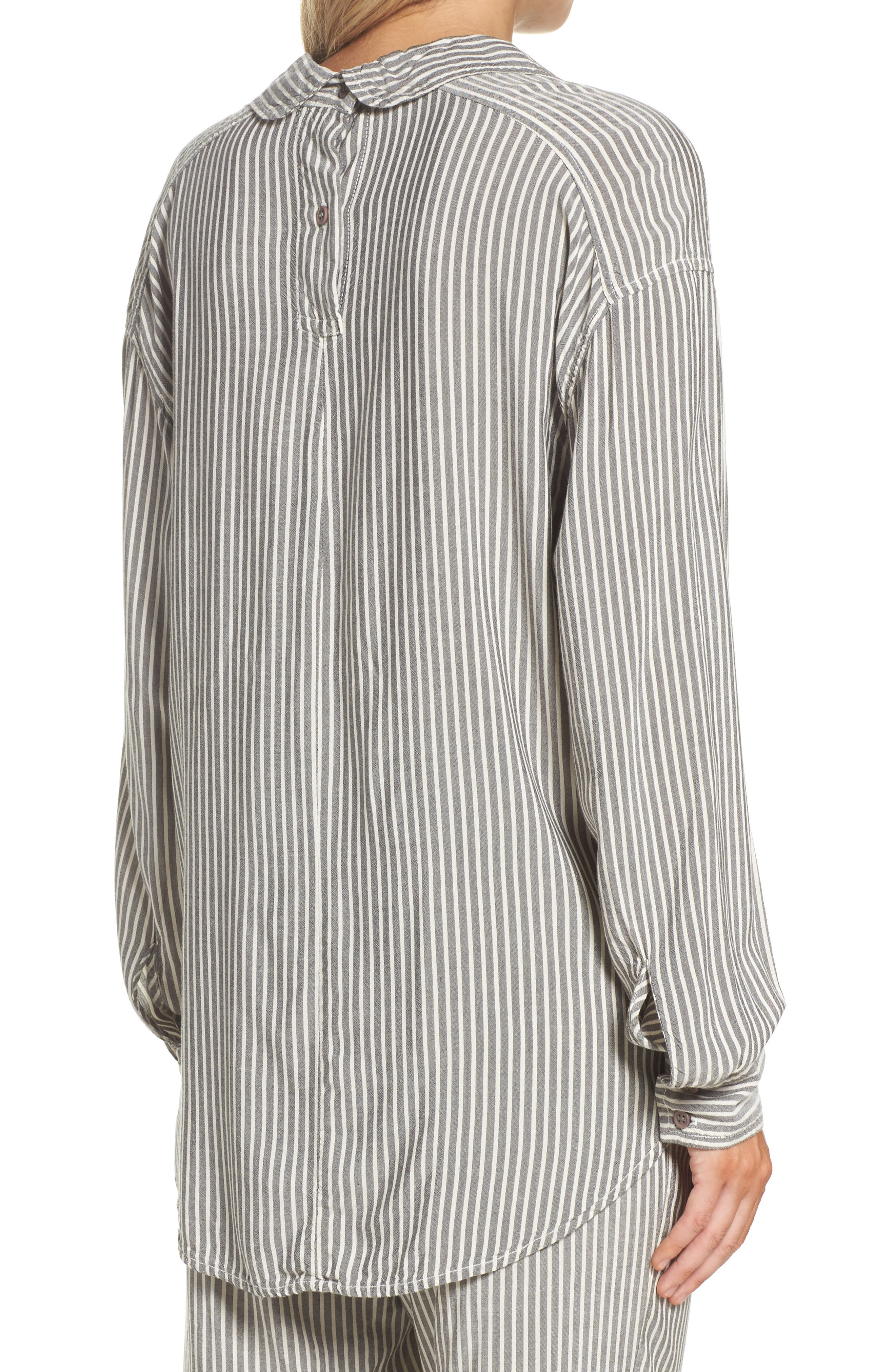 Stripe Top,                             Alternate thumbnail 2, color,                             Grey Stripe