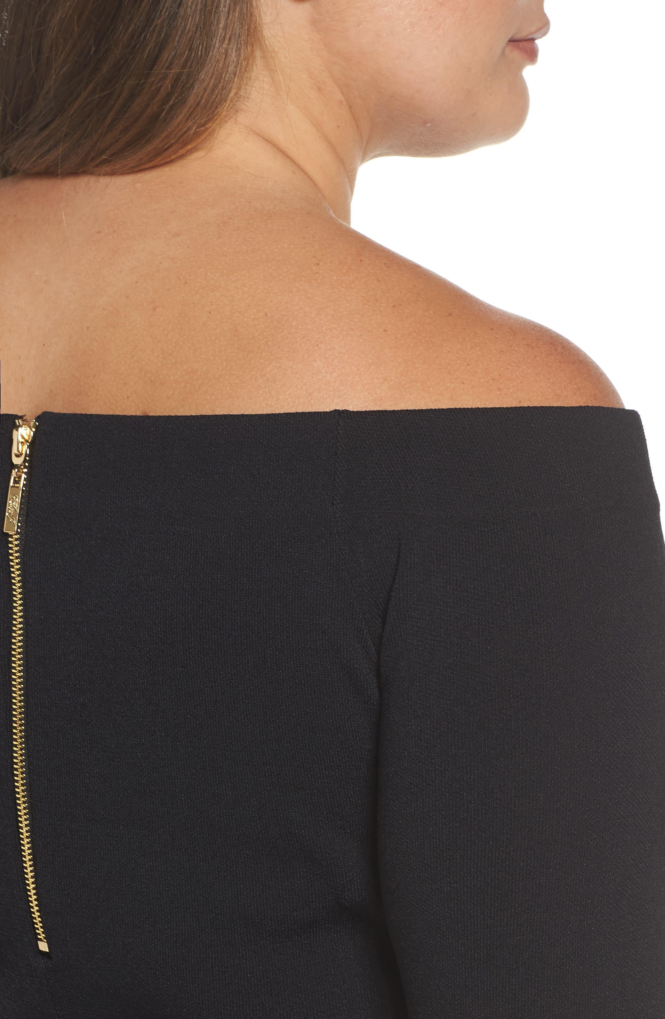 Alternate Image 4  - Eliza J Knit Fit & Flare Dress (Plus Size)
