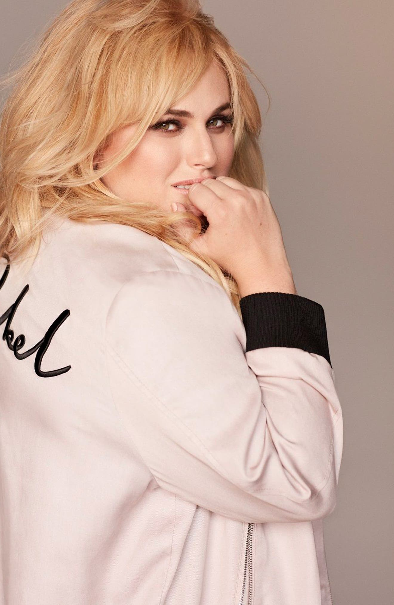 Alternate Image 2  - Rebel Wilson x Angels Signature Bomber Jacket (Plus Size)