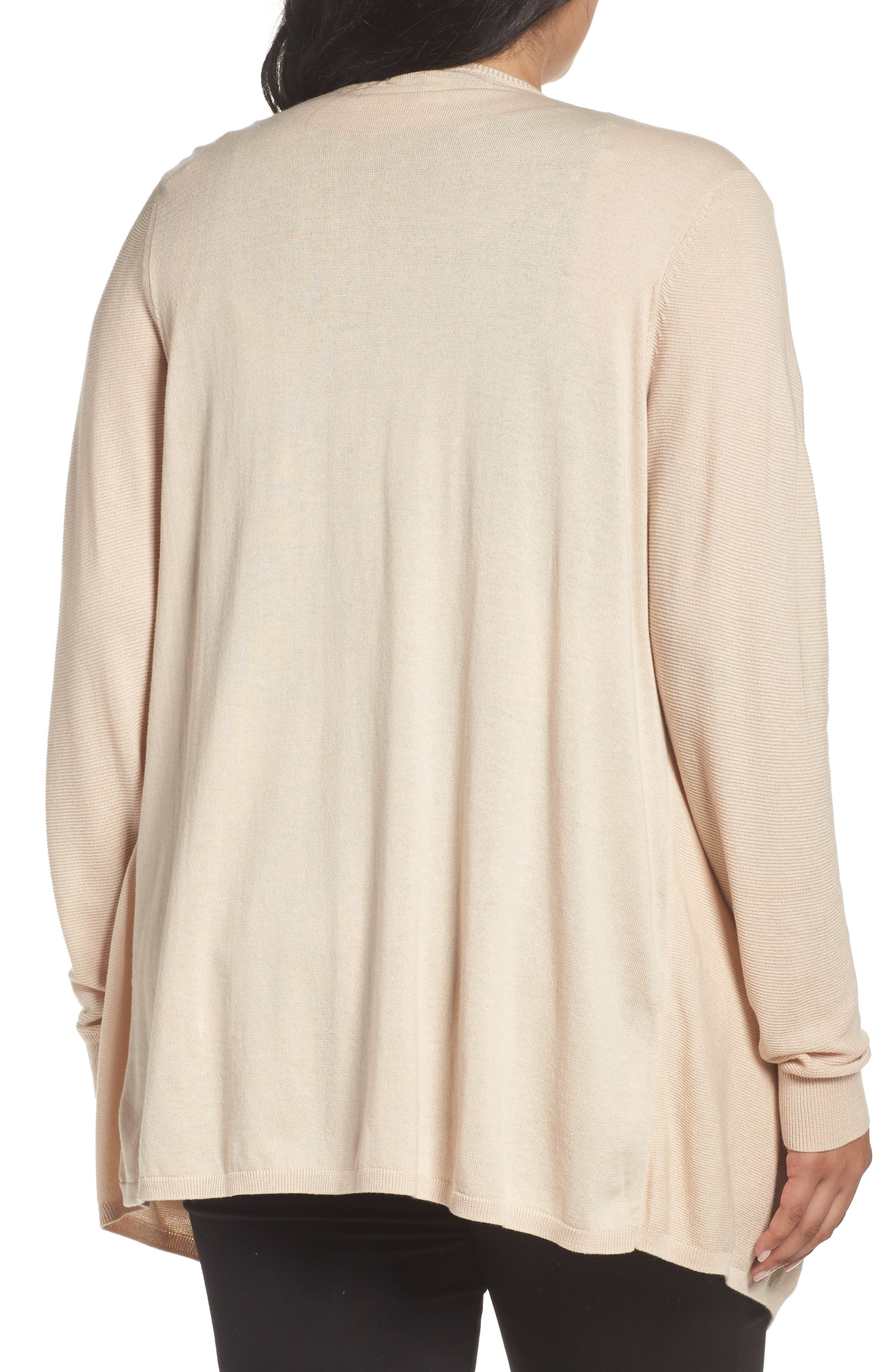 Double Layer Cardigan,                             Alternate thumbnail 2, color,                             Beige Beach- Ivory