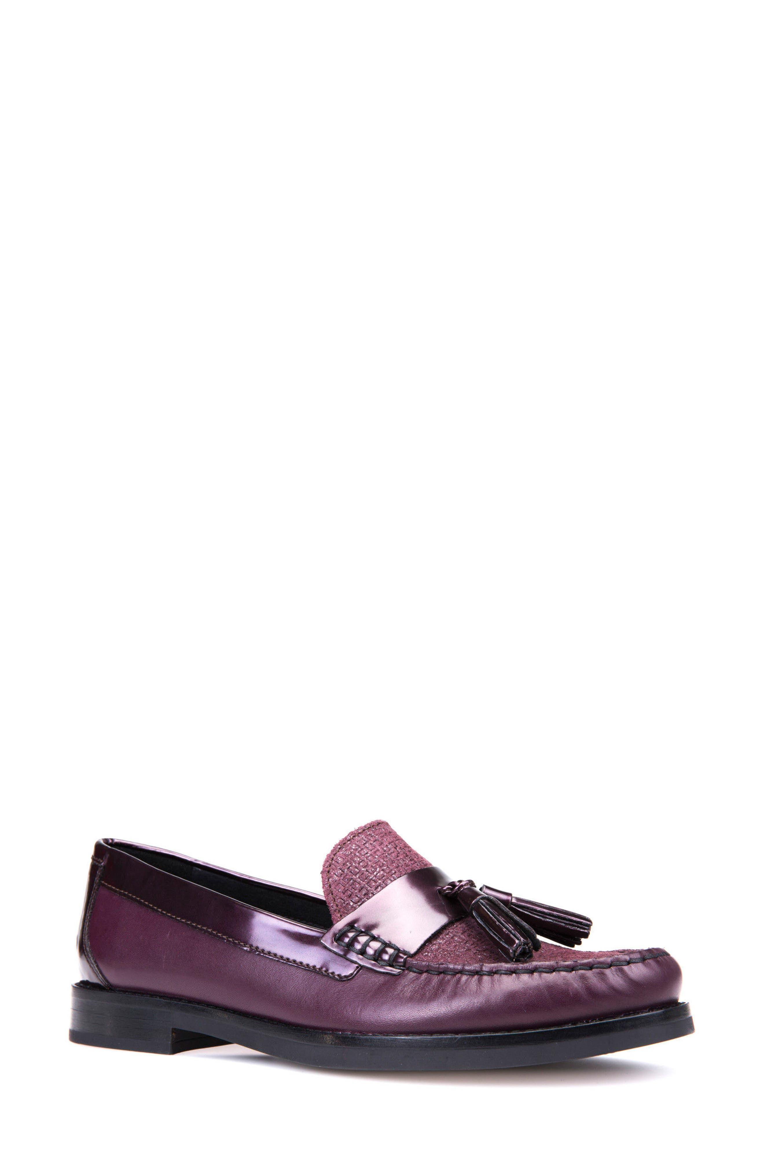 Promethea Loafer,                         Main,                         color, Prune Leather