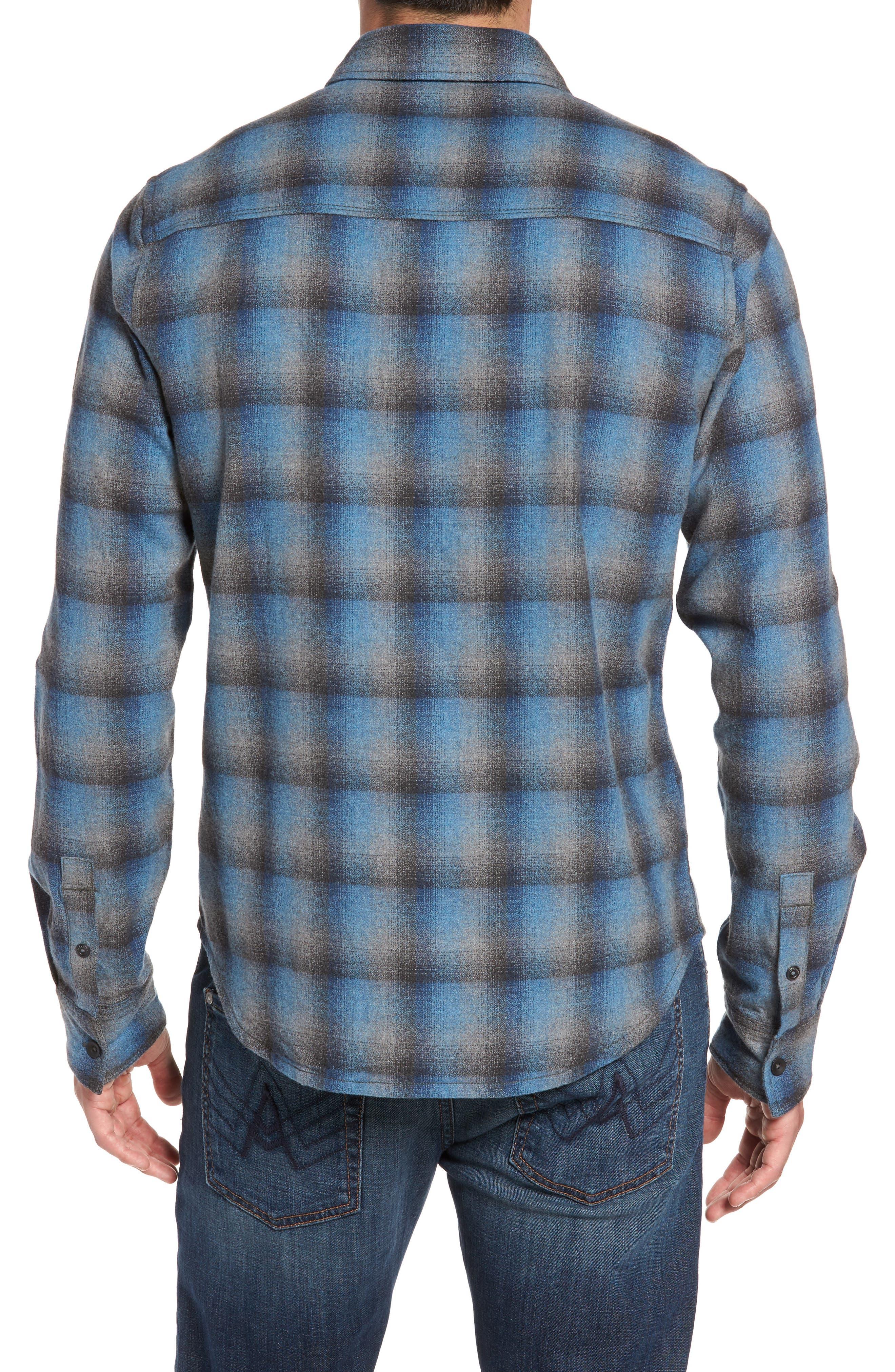 Delta Regular Fit Brushed Crepe Sport Shirt,                             Alternate thumbnail 2, color,                             Captain Heather