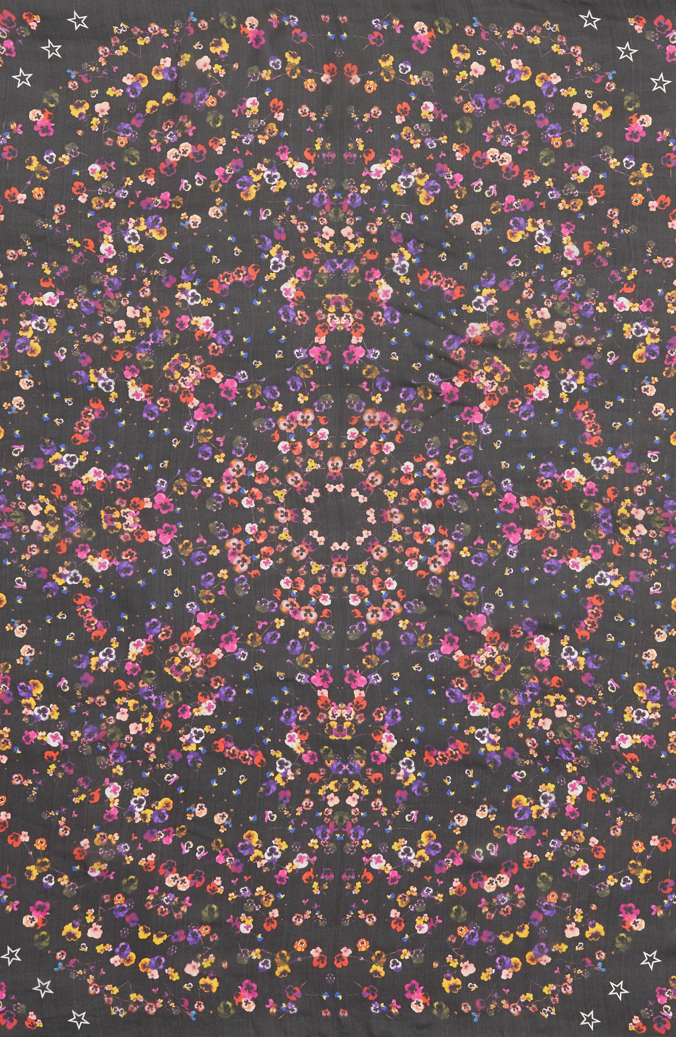 Alternate Image 4  - Givenchy Wild Pansy Silk Scarf