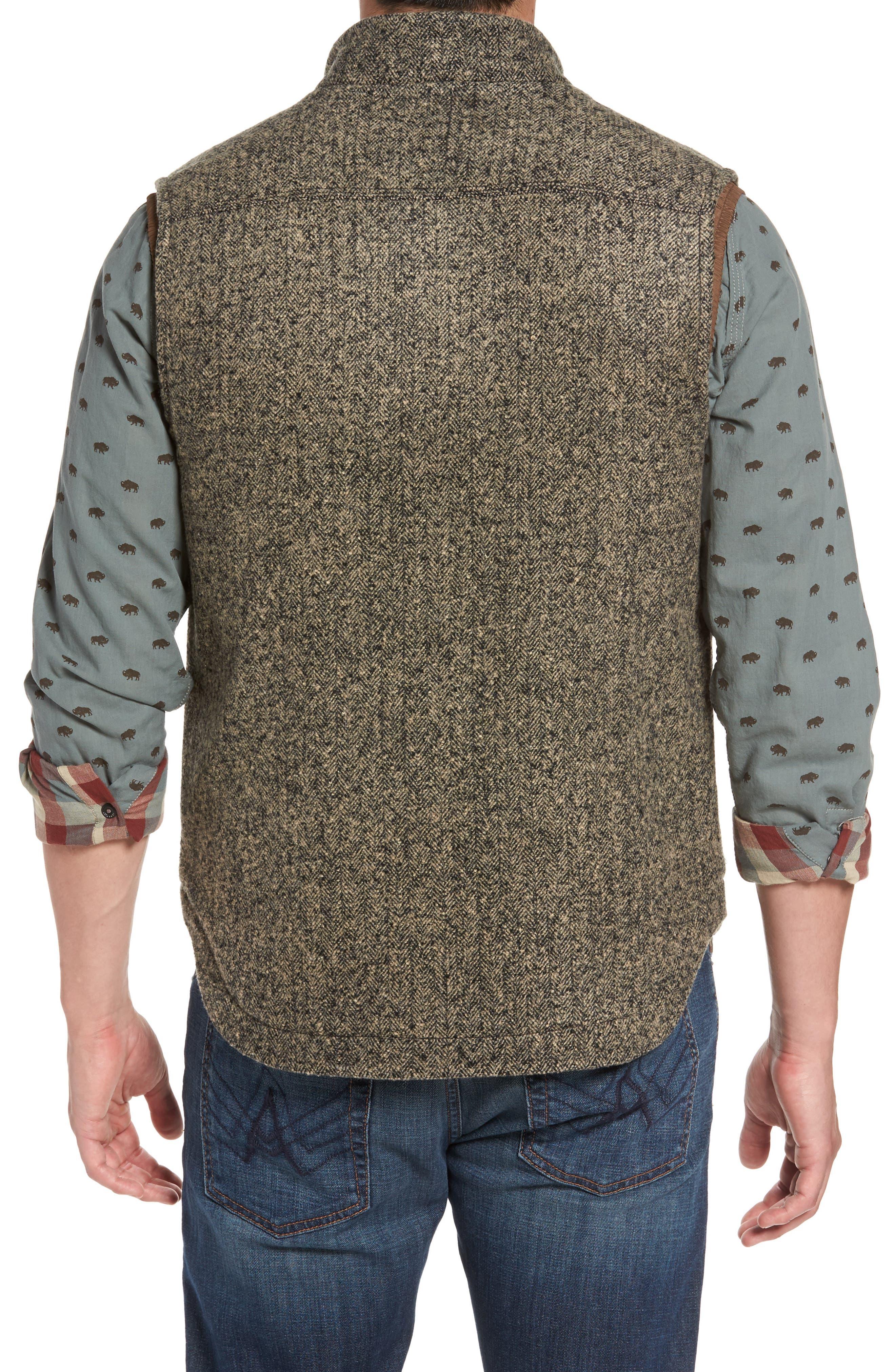 Sanford Herringbone Vest,                             Alternate thumbnail 2, color,                             Mule Heather