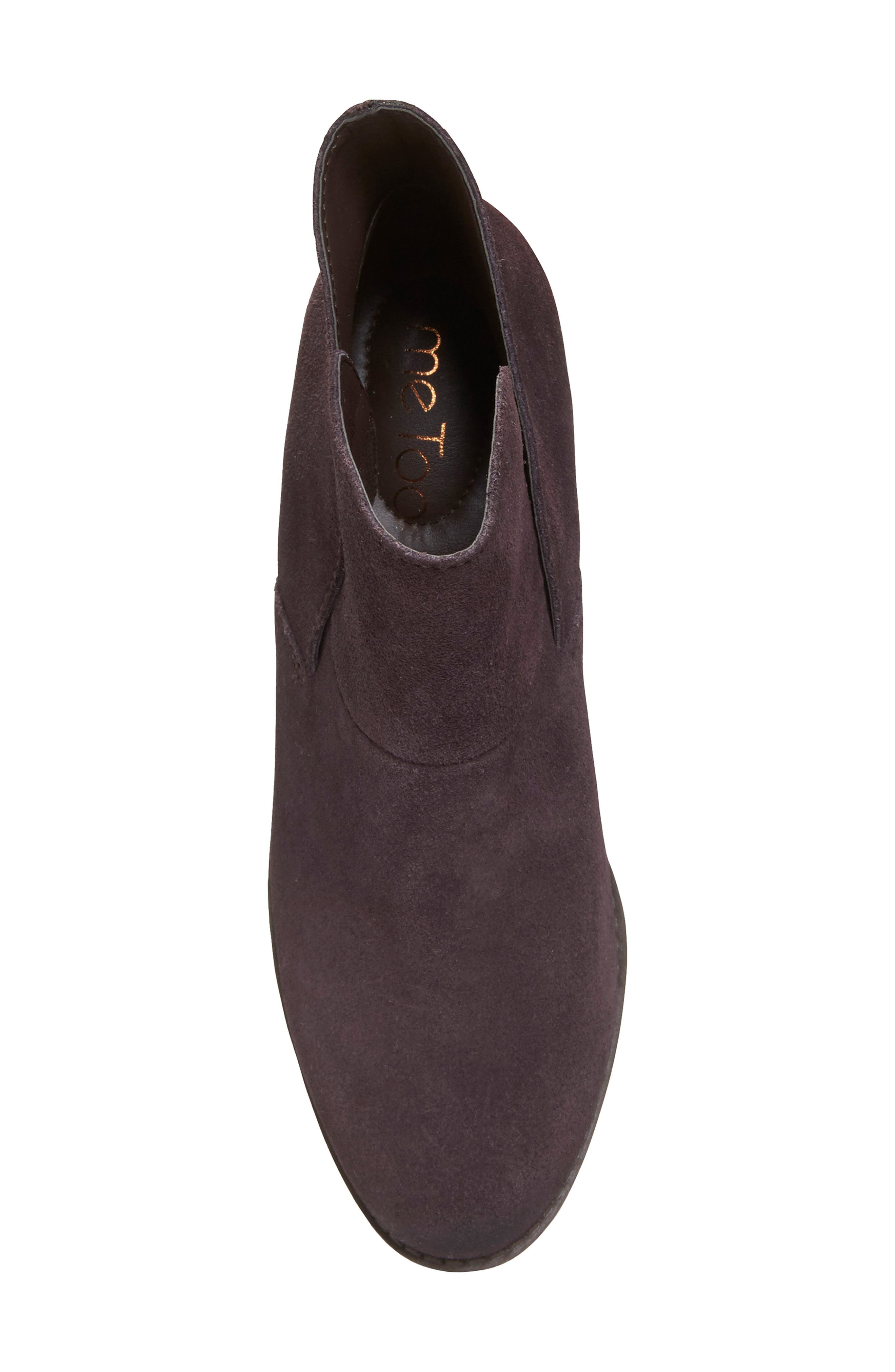 Zena Ankle Boot,                             Alternate thumbnail 5, color,                             Dark Ruby Suede