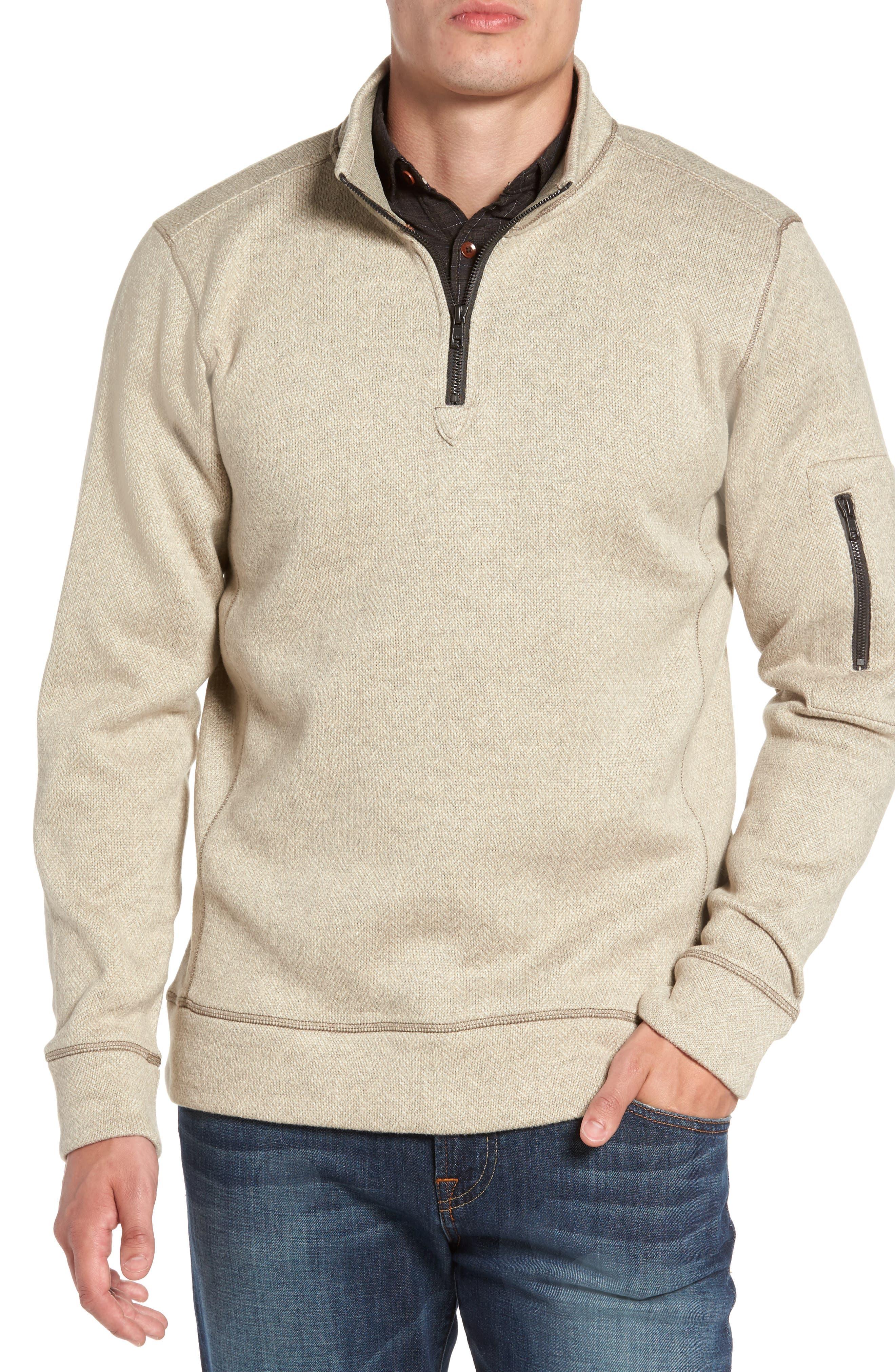 Main Image - Jeremiah Lance Herringbone Zip Mock Neck Sweater