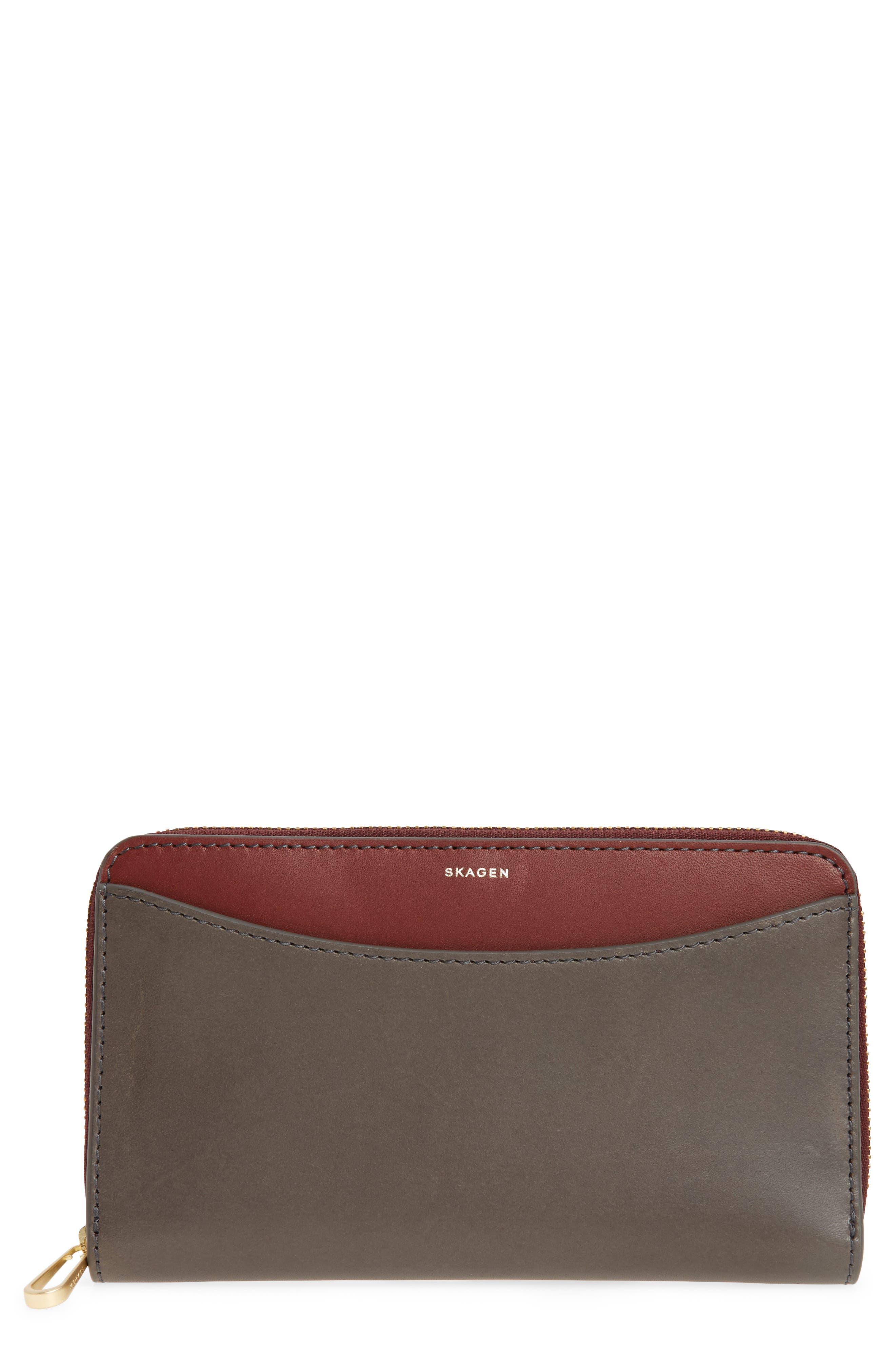 Compact Continental Wallet,                         Main,                         color, Pewter