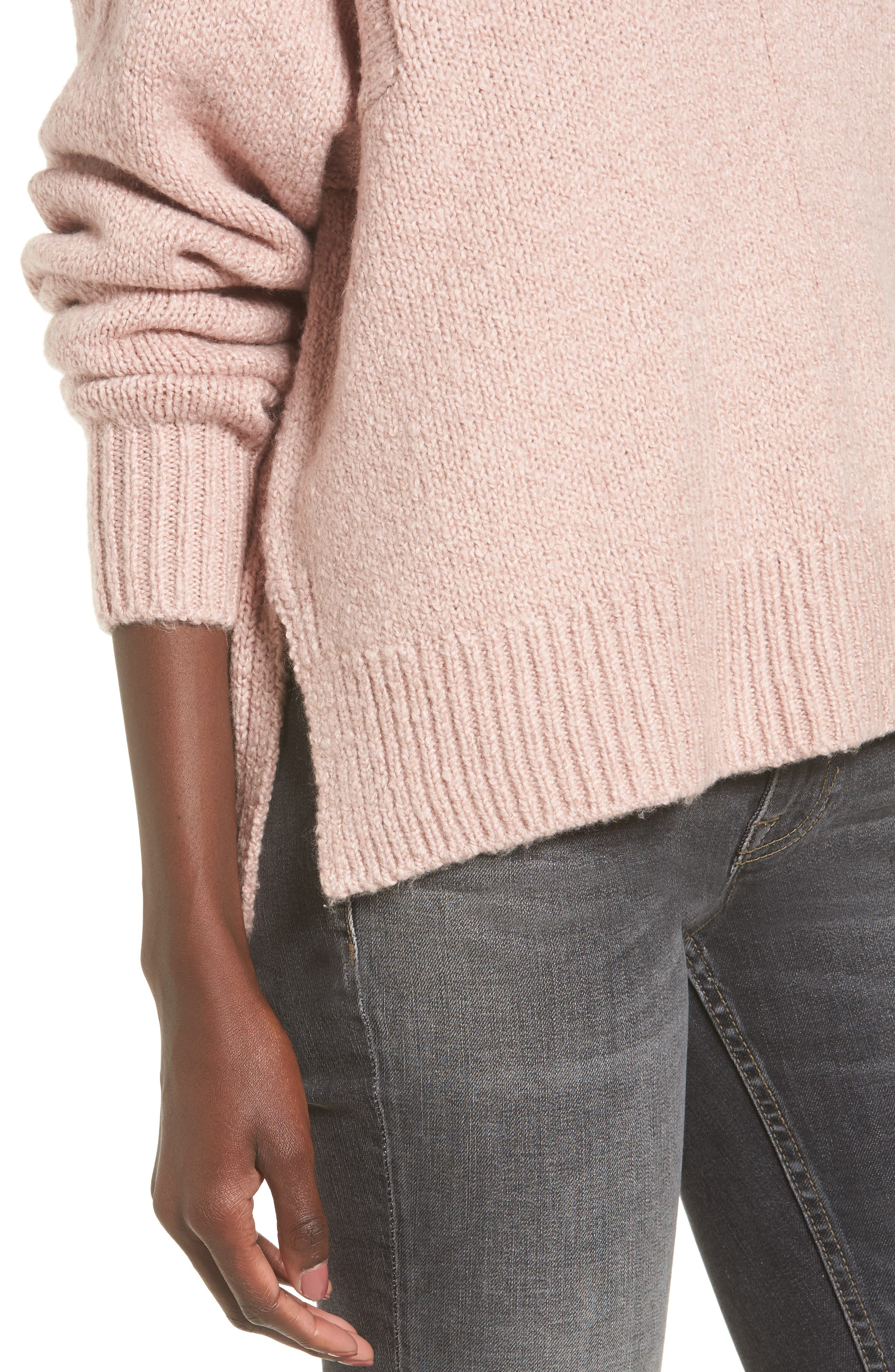 Alternate Image 4  - Leith Fuzzy Side Slit Sweater