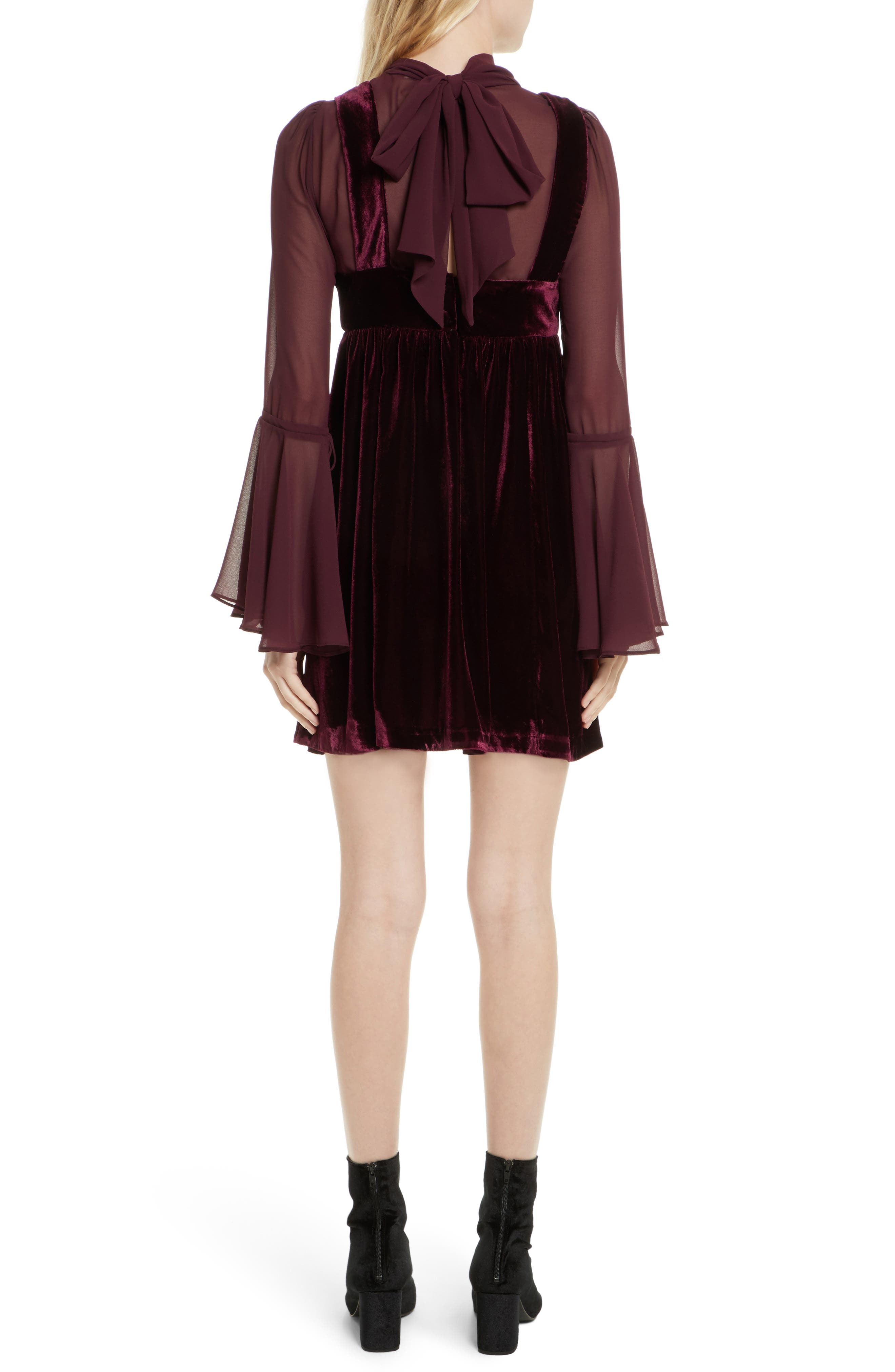 Counting Stars Minidress,                             Alternate thumbnail 2, color,                             Wine