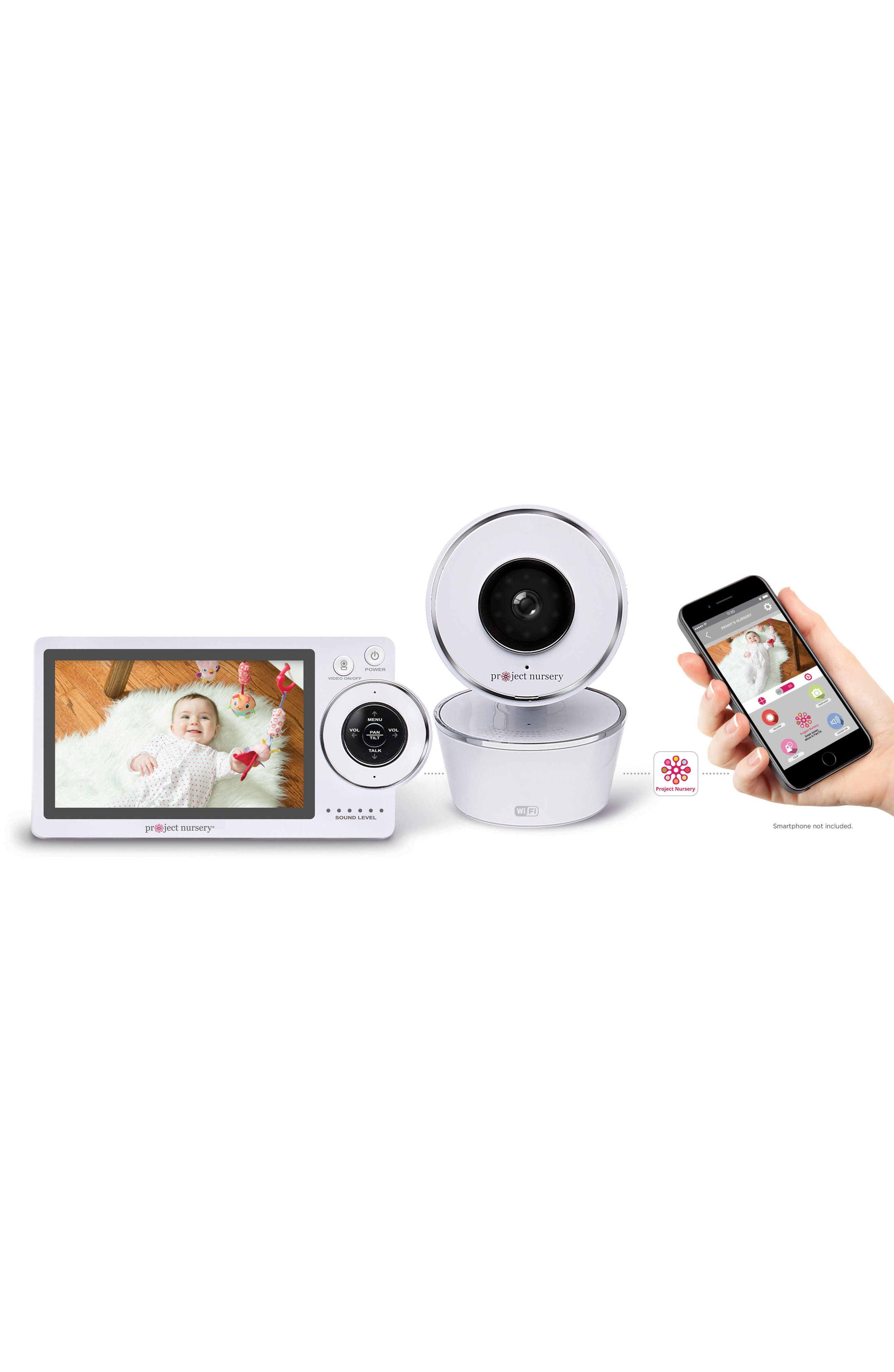 Dual Connect Baby Monitor System,                         Main,                         color, White