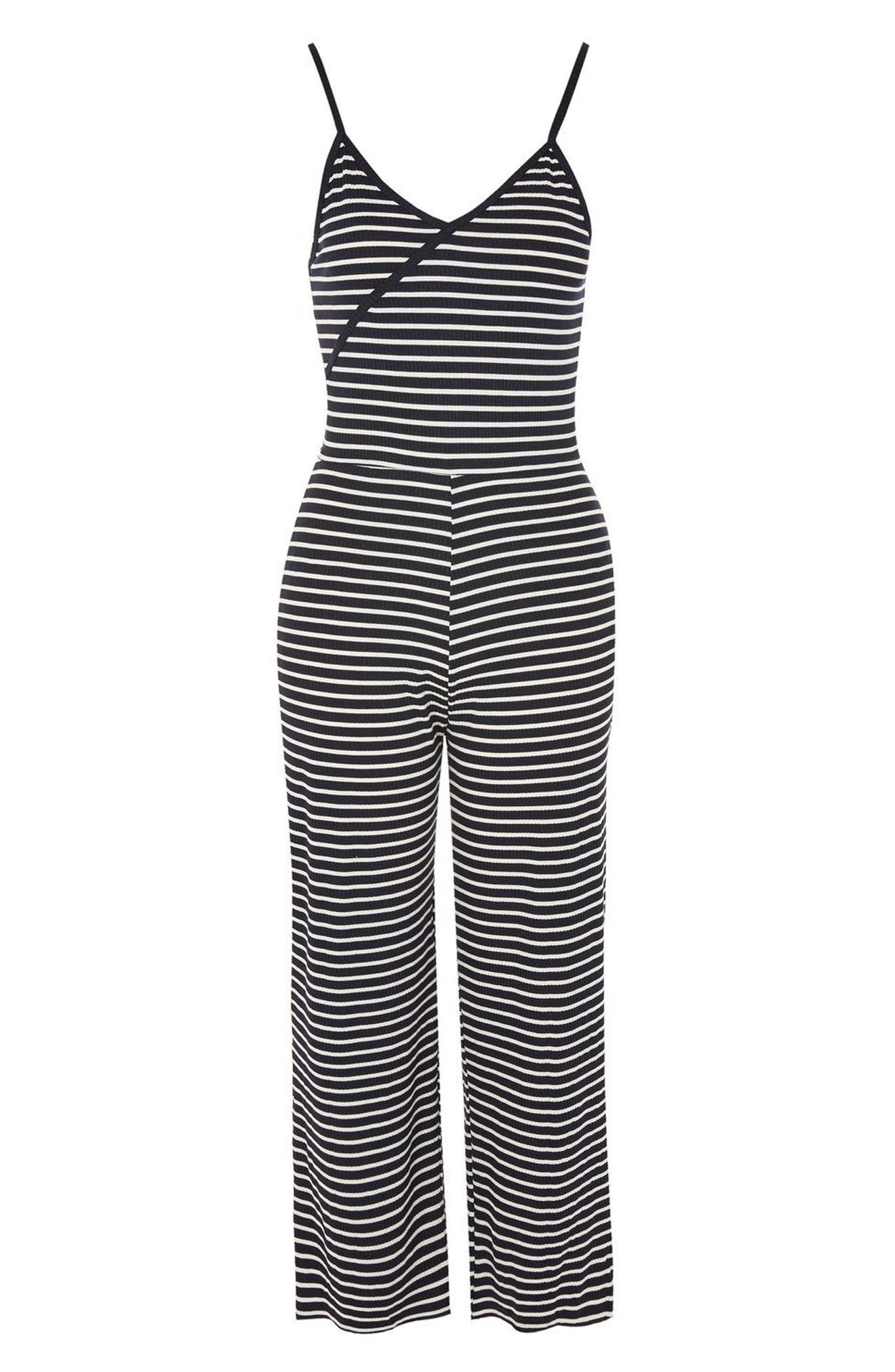 Alternate Image 3  - Topshop Stripe Jumpsuit