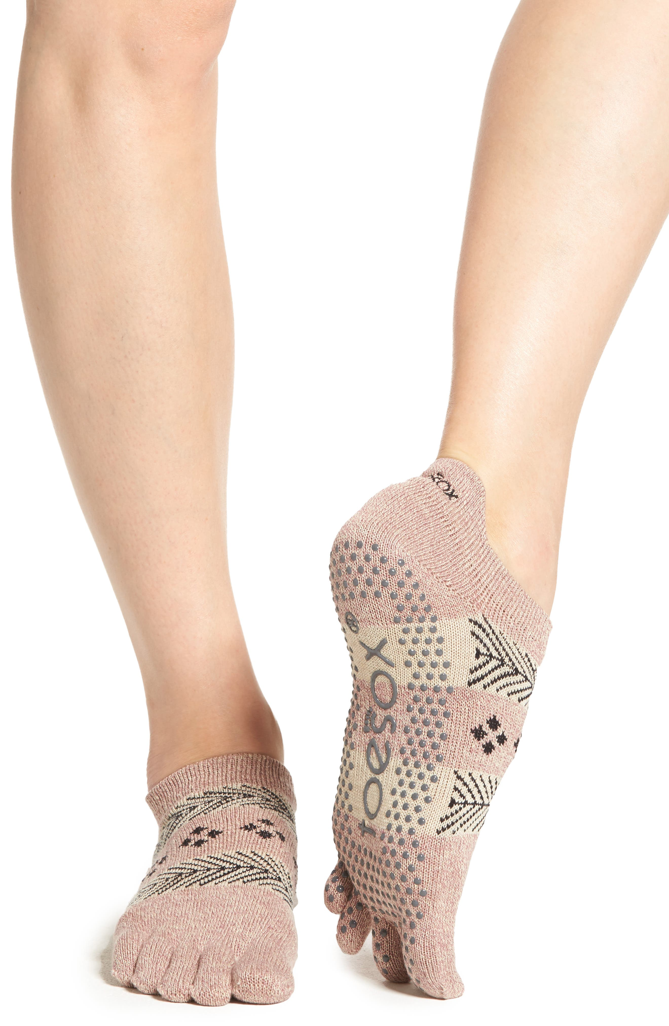 Full Toe Grip Socks,                             Alternate thumbnail 2, color,                             Sugar Plum