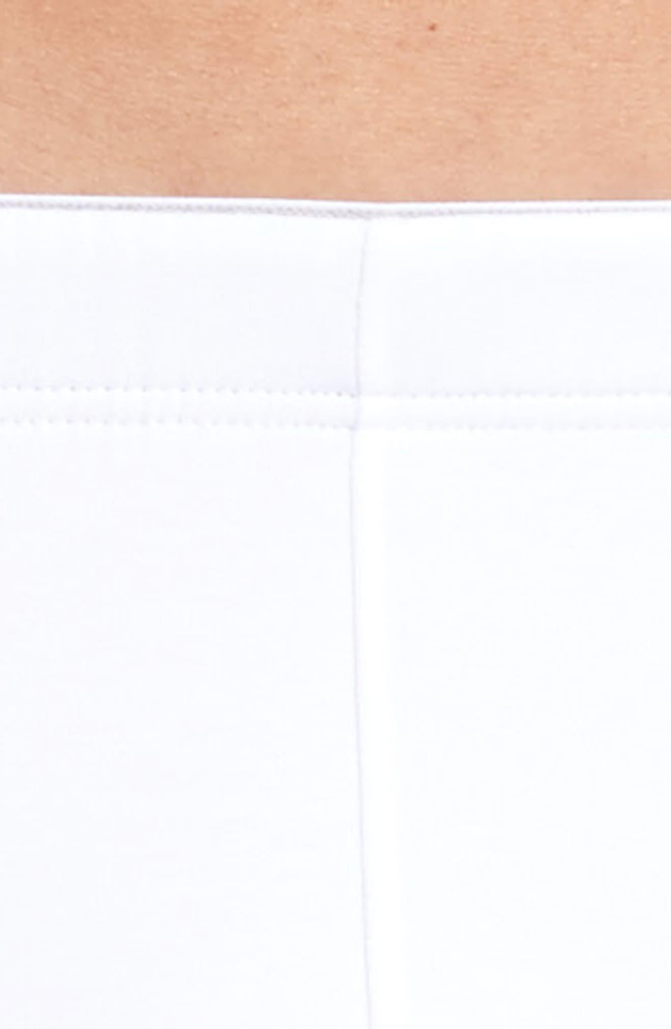 Cotton Superior Long Leg Boxer Briefs,                             Alternate thumbnail 4, color,                             White