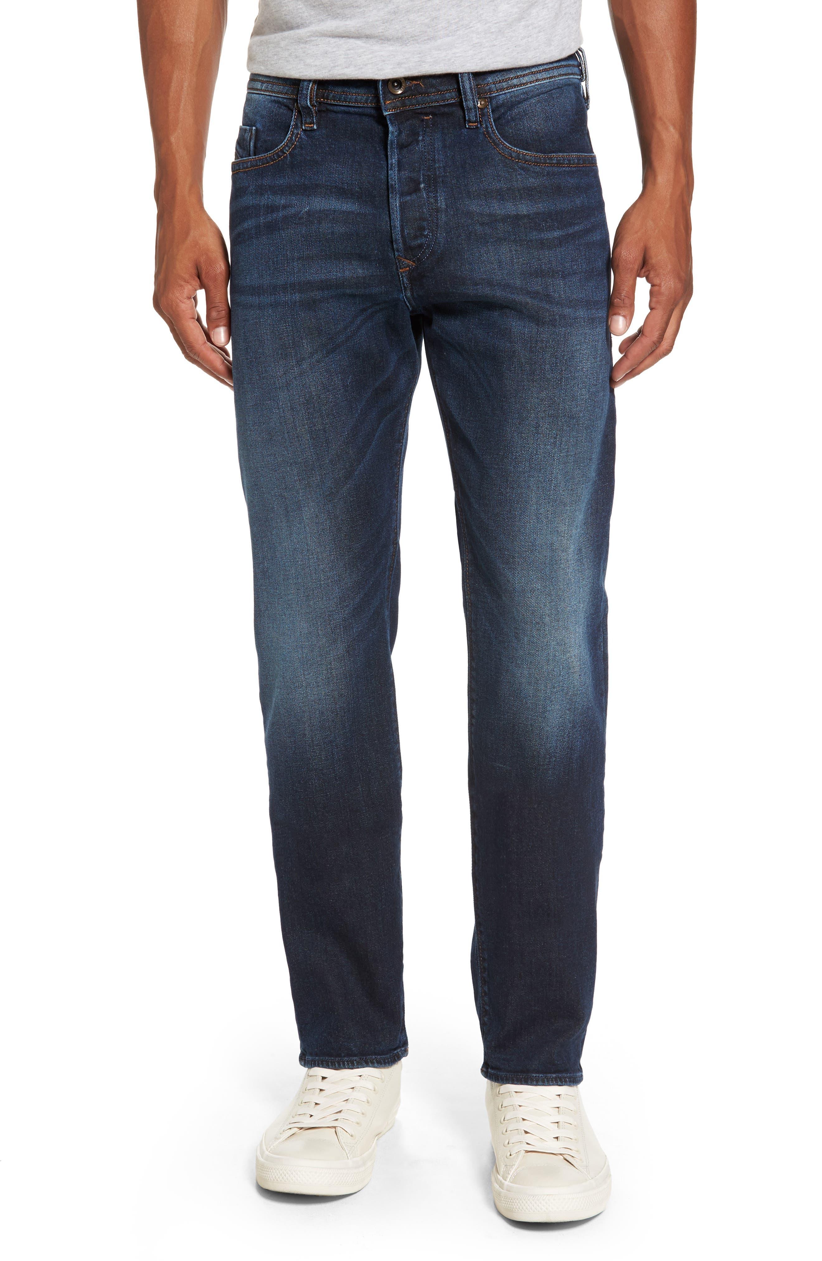 Buster Slim Straight Leg Jeans,                             Main thumbnail 1, color,                             Denim