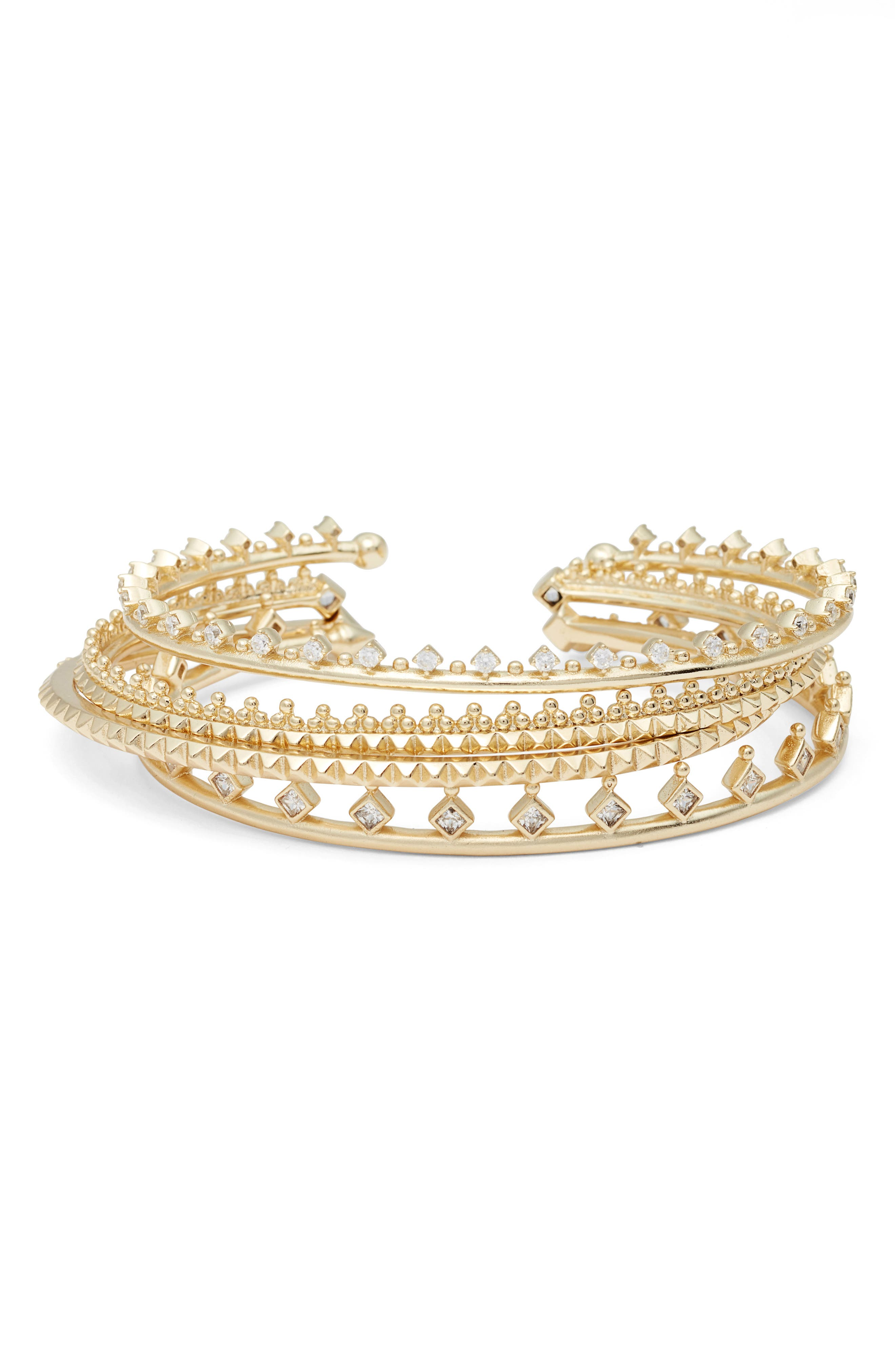 Kendra Scott Delphine Set of 4 Stackable Cuffs