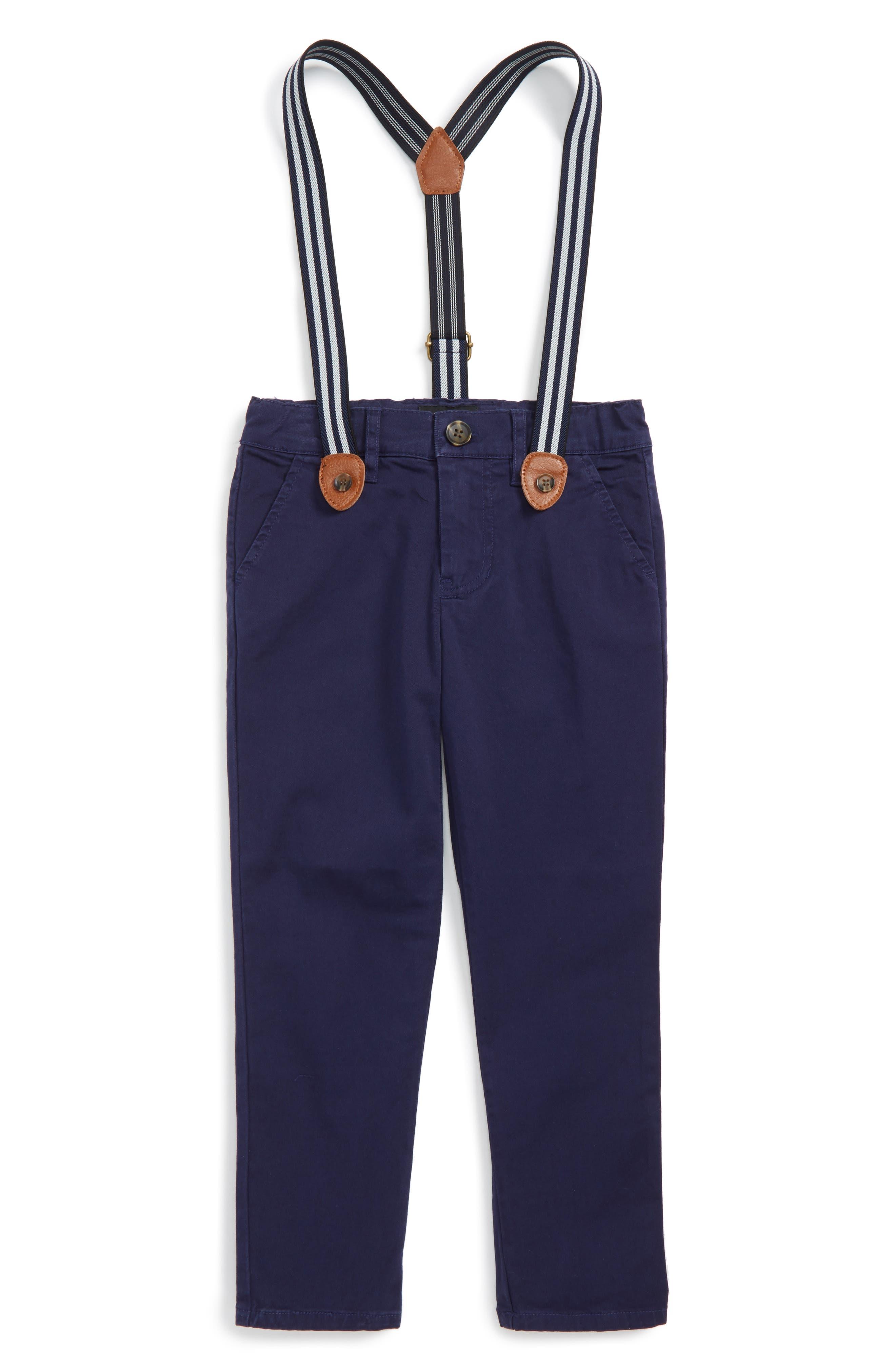 Alternate Image 1 Selected - Bardot Junior Chinos & Suspenders Set (Toddler Boys & Little Boys)