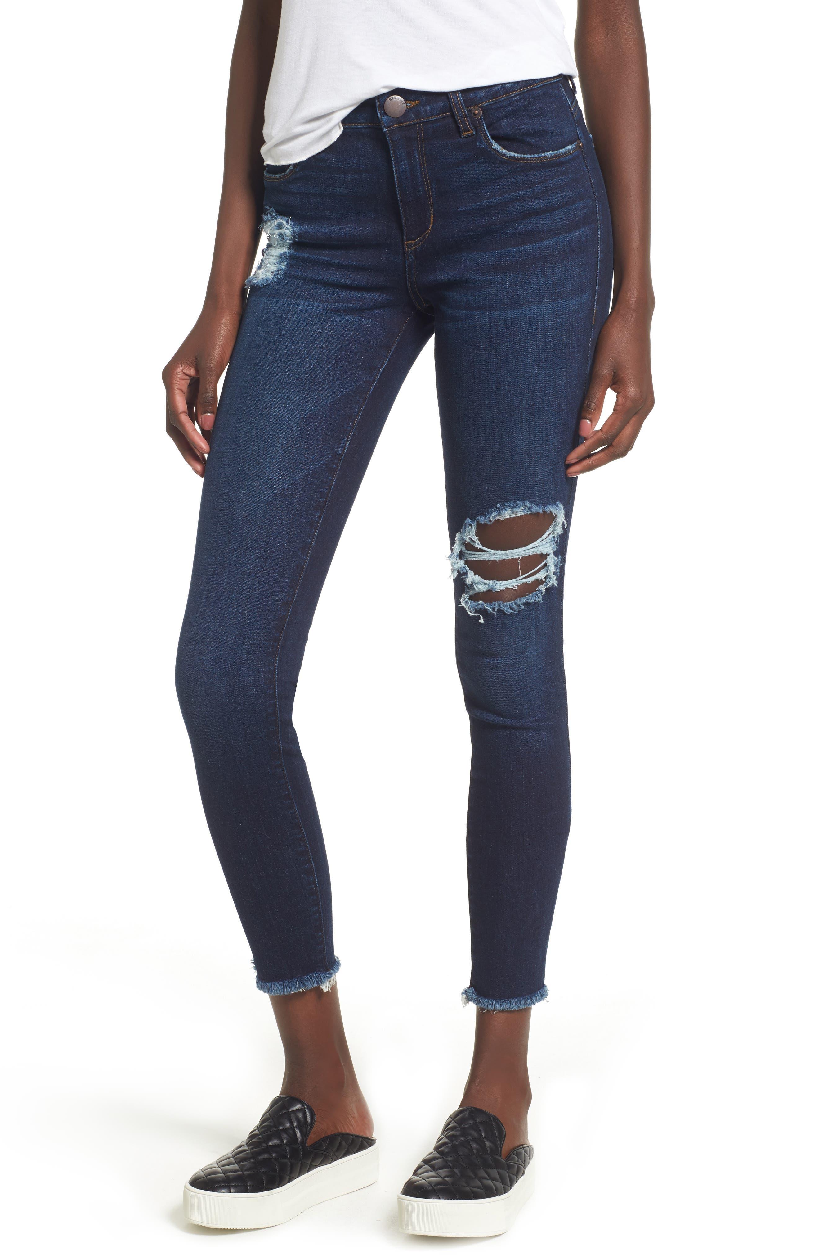 STS Blue Emma Frayed Hem Ankle Skinny Jeans (North La Canada)