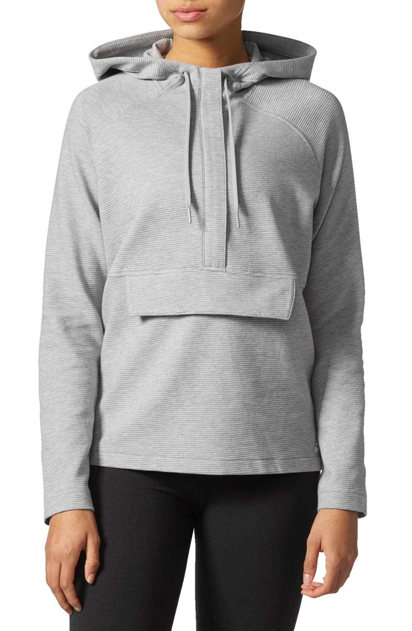 Alternate Image 1 Selected - adidas Zip Fleece Hoodie