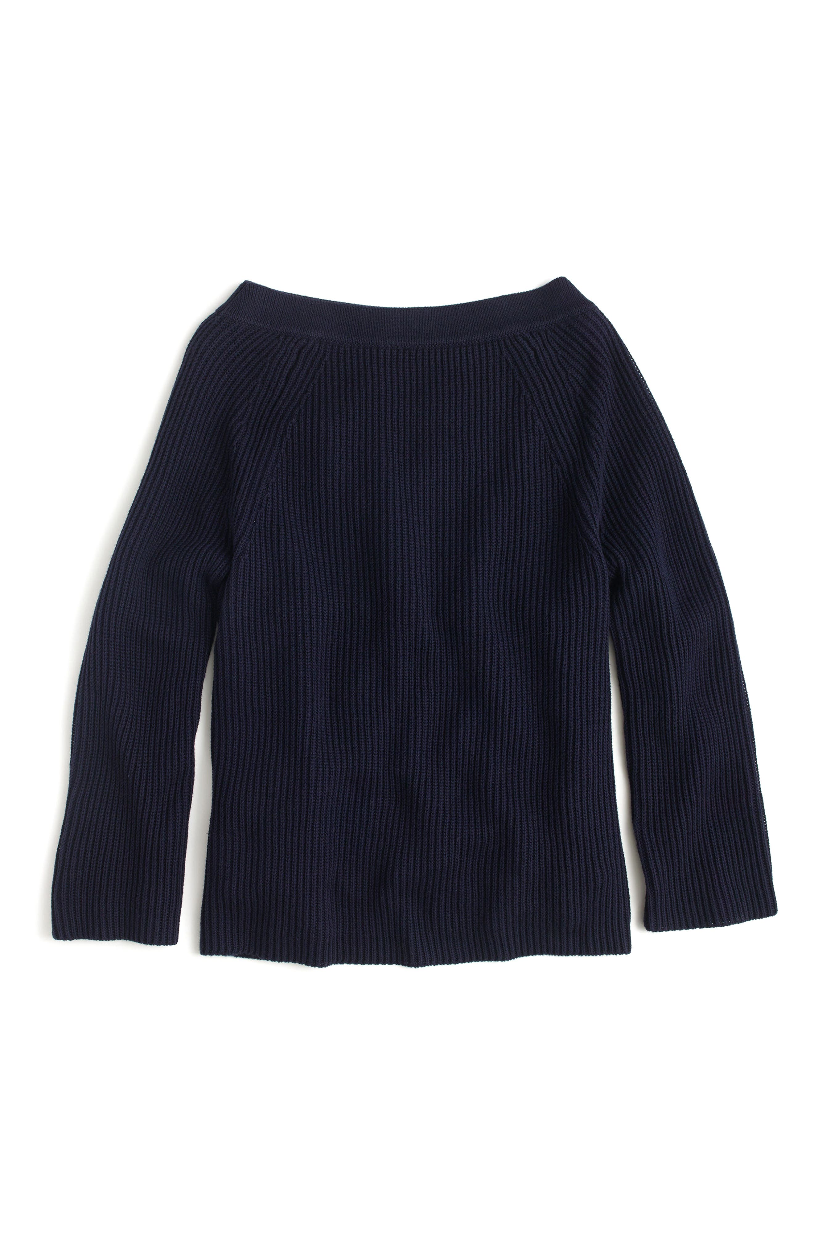 J.Crew Relaxed Cotton Boatneck Sweater