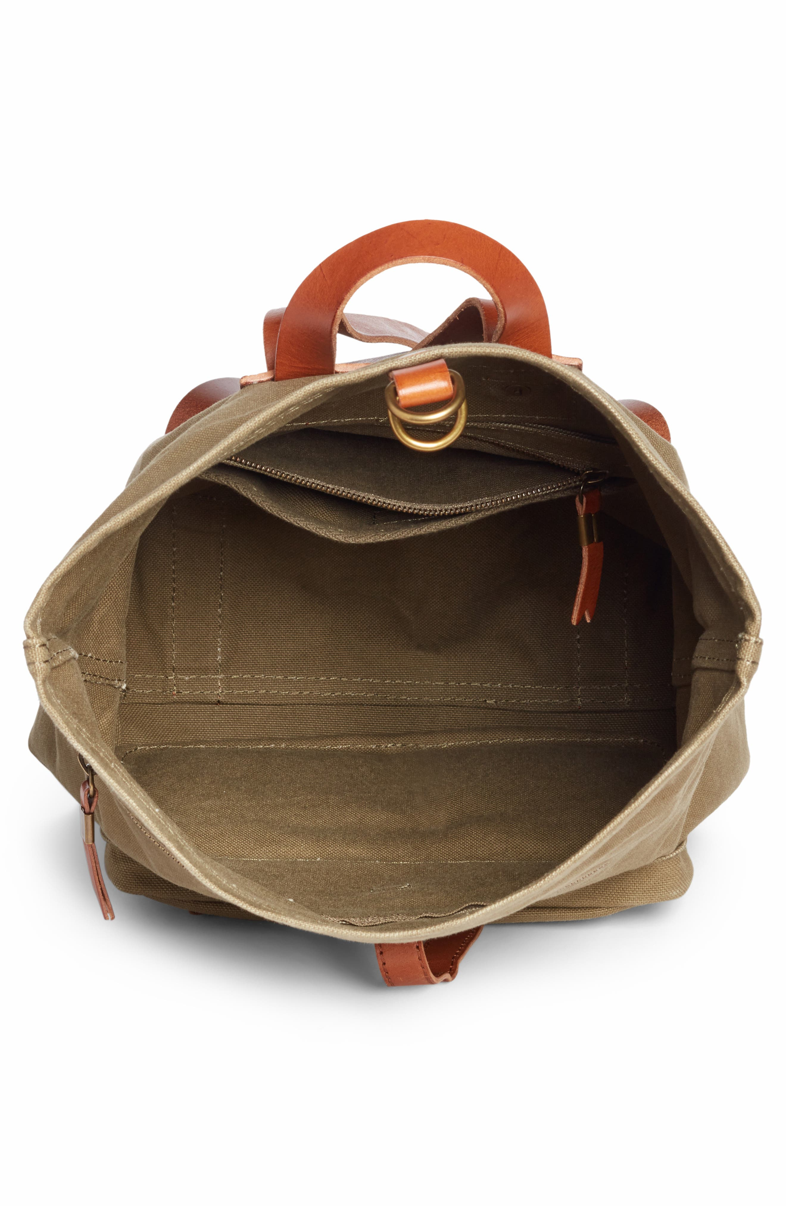 The Canvas Foldover Backpack,                             Alternate thumbnail 4, color,                             British Surplus
