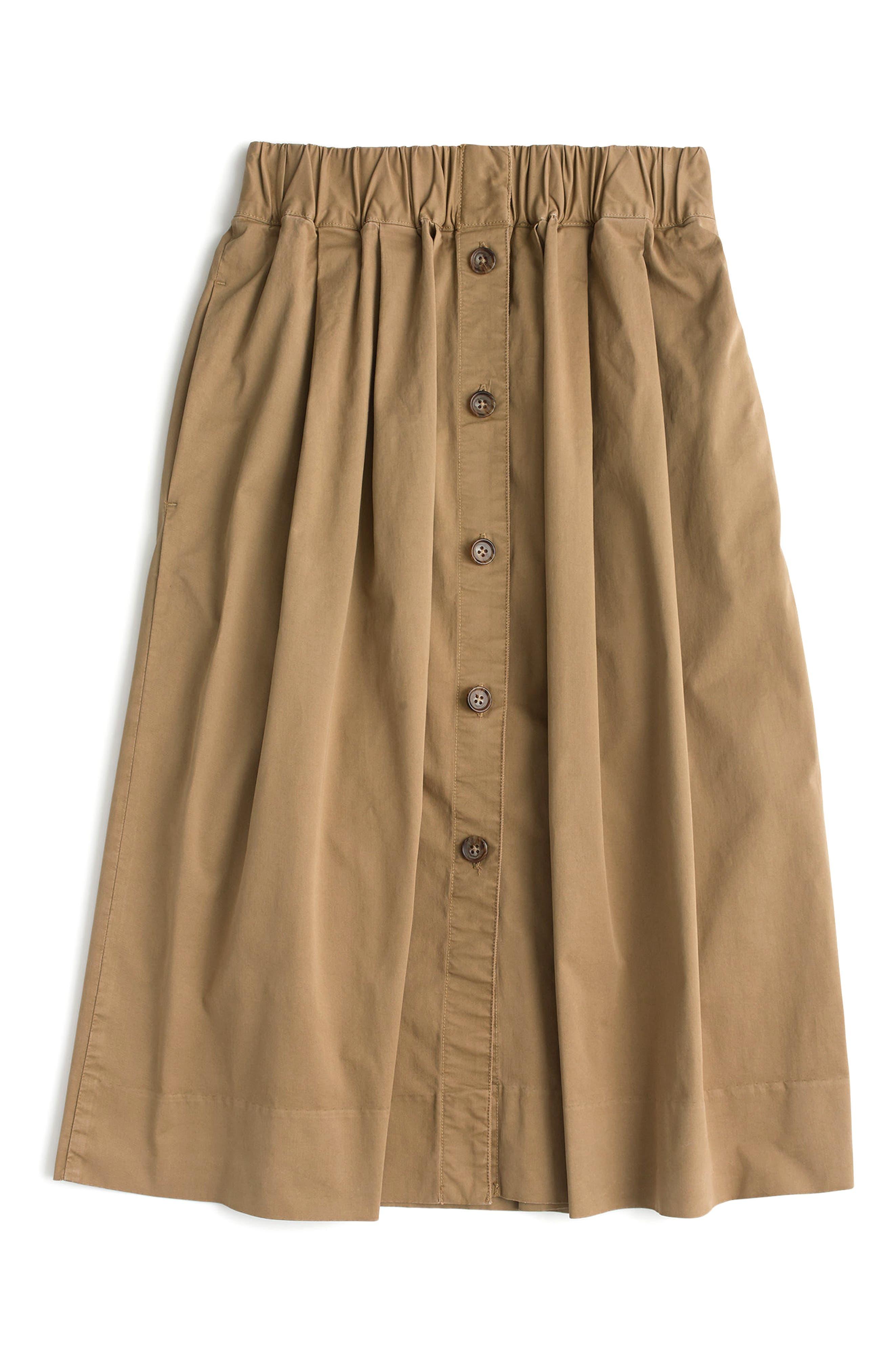 Alternate Image 3  - J.Crew Button Front Chino Skirt (Regular & Petite)