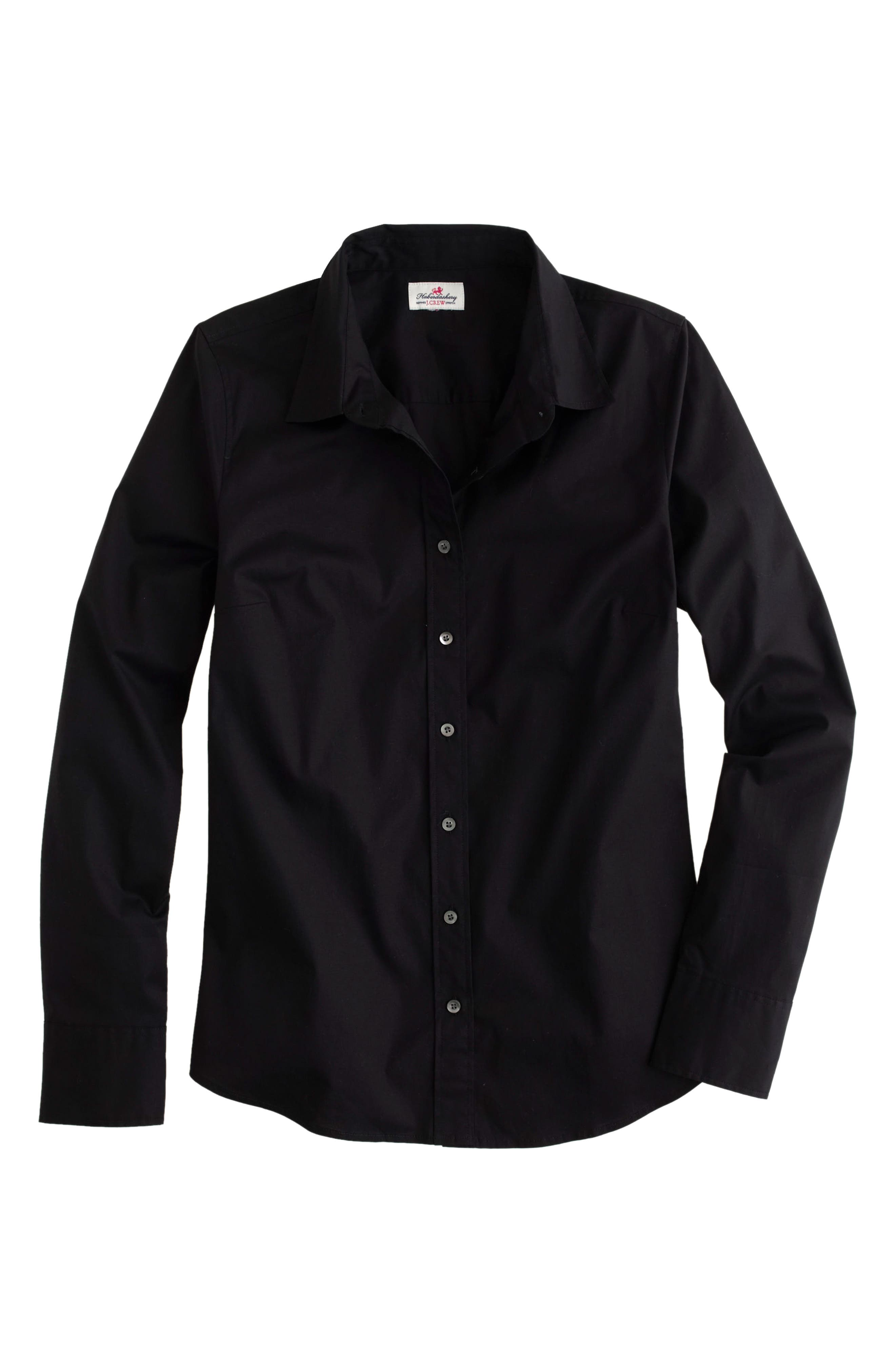 Alternate Image 4  - J.Crew Stretch Perfect Shirt (Regular & Petite)