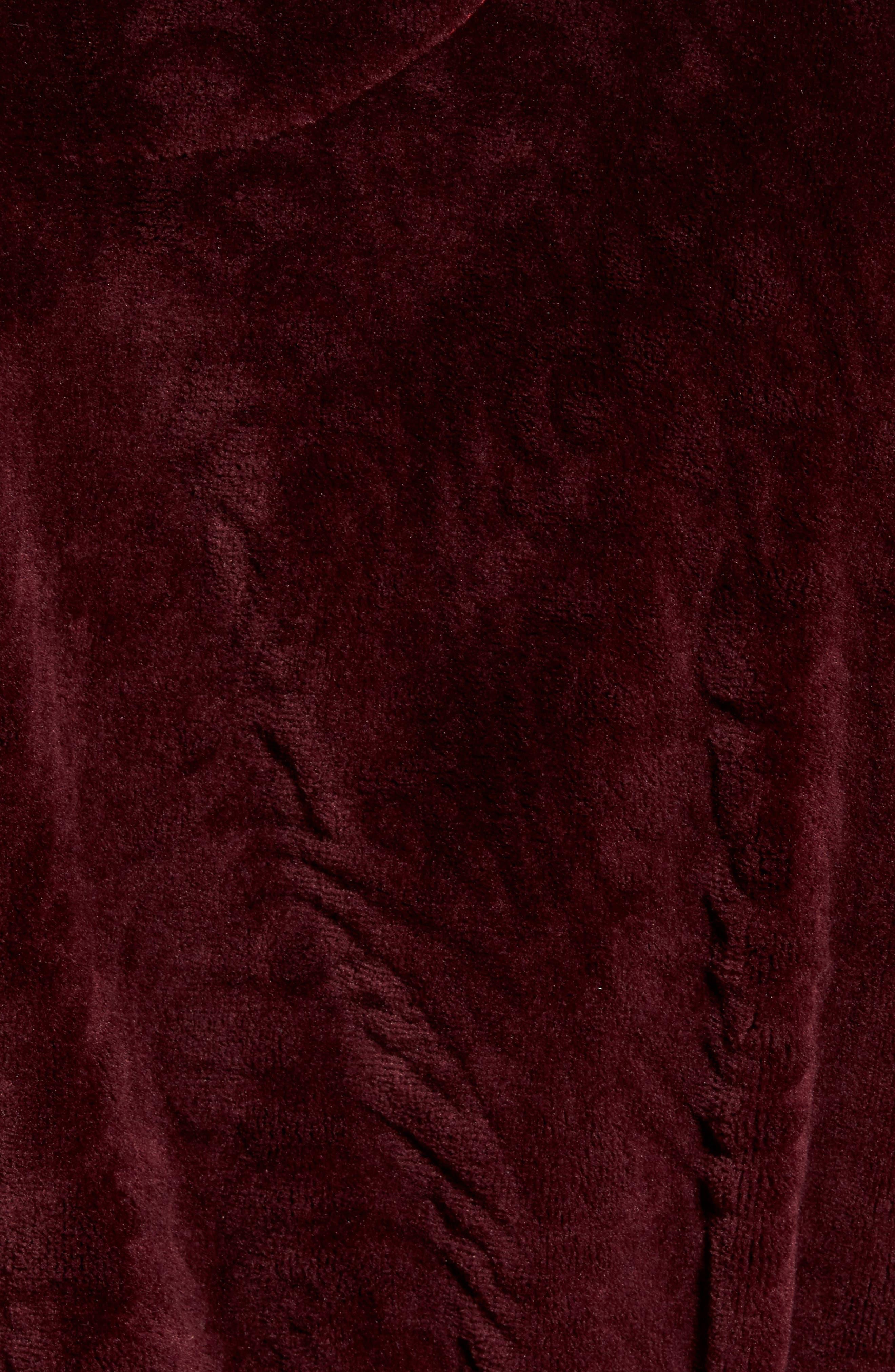 Midtown Robe,                             Alternate thumbnail 5, color,                             Burgundy Paisley