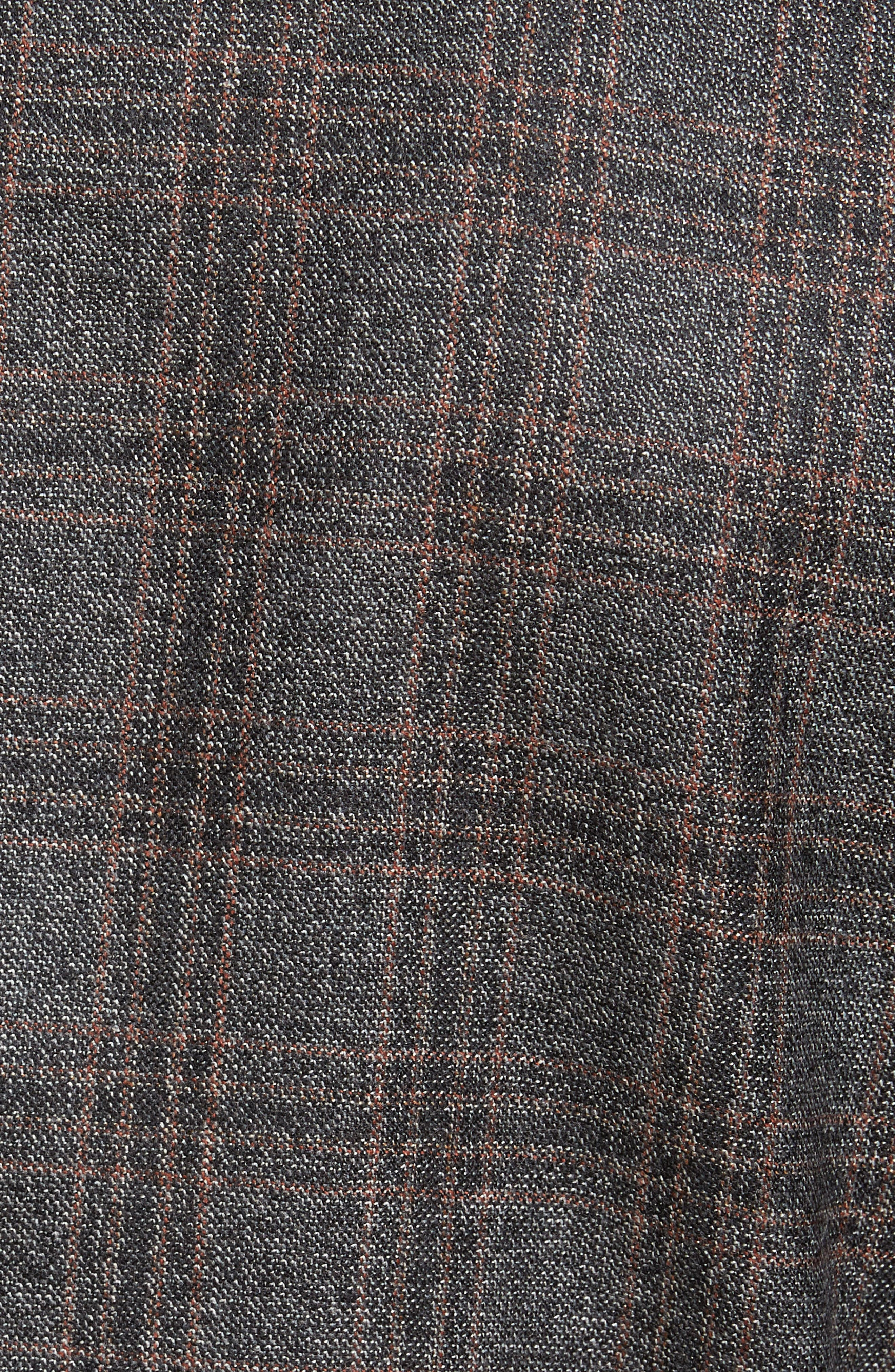 Alternate Image 5  - BOSS Jeen Trim Fit Plaid Wool Sport Coat