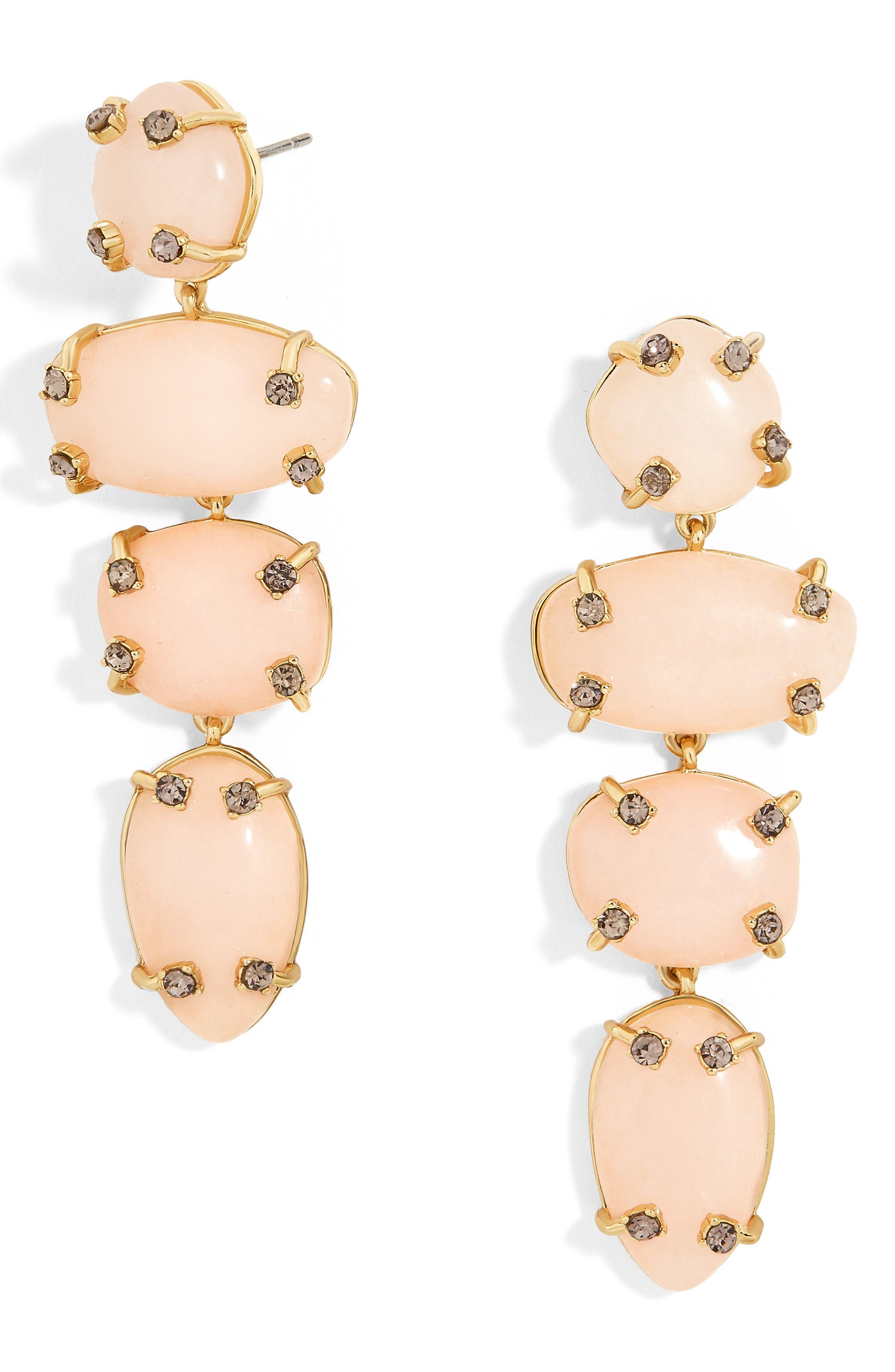 Devina Drop Earrings,                         Main,                         color, Light Pink