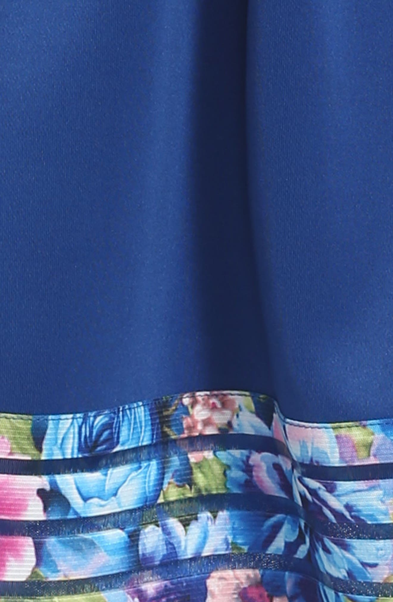Elastic Stripe Dress,                             Alternate thumbnail 3, color,                             Navy
