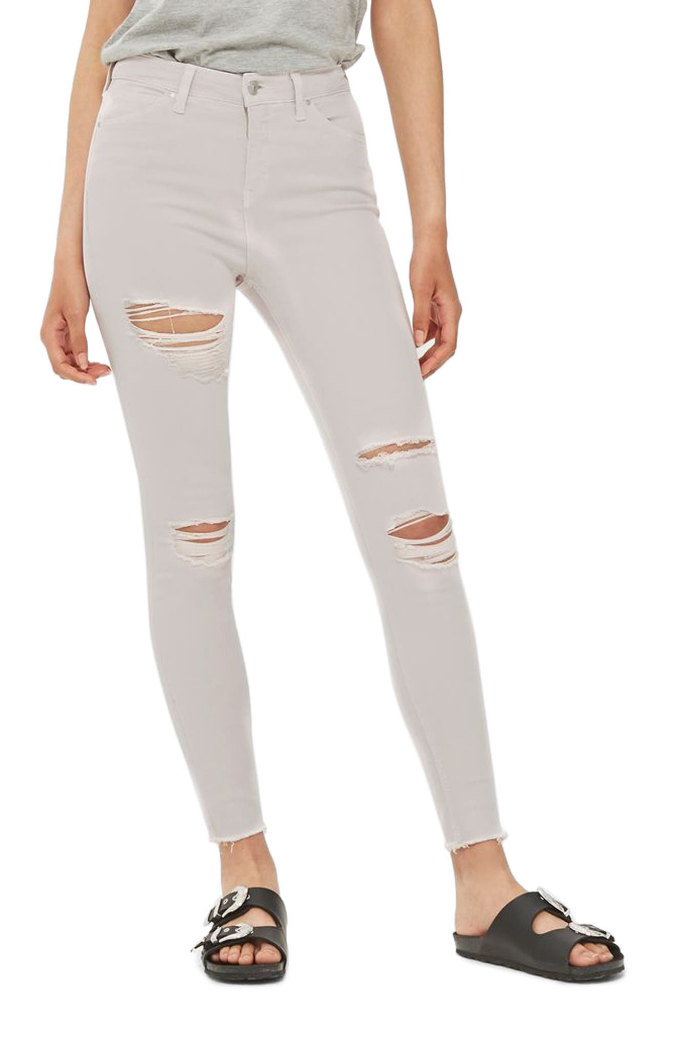 Topshop Jamie Ripped High Rise Skinny Jeans
