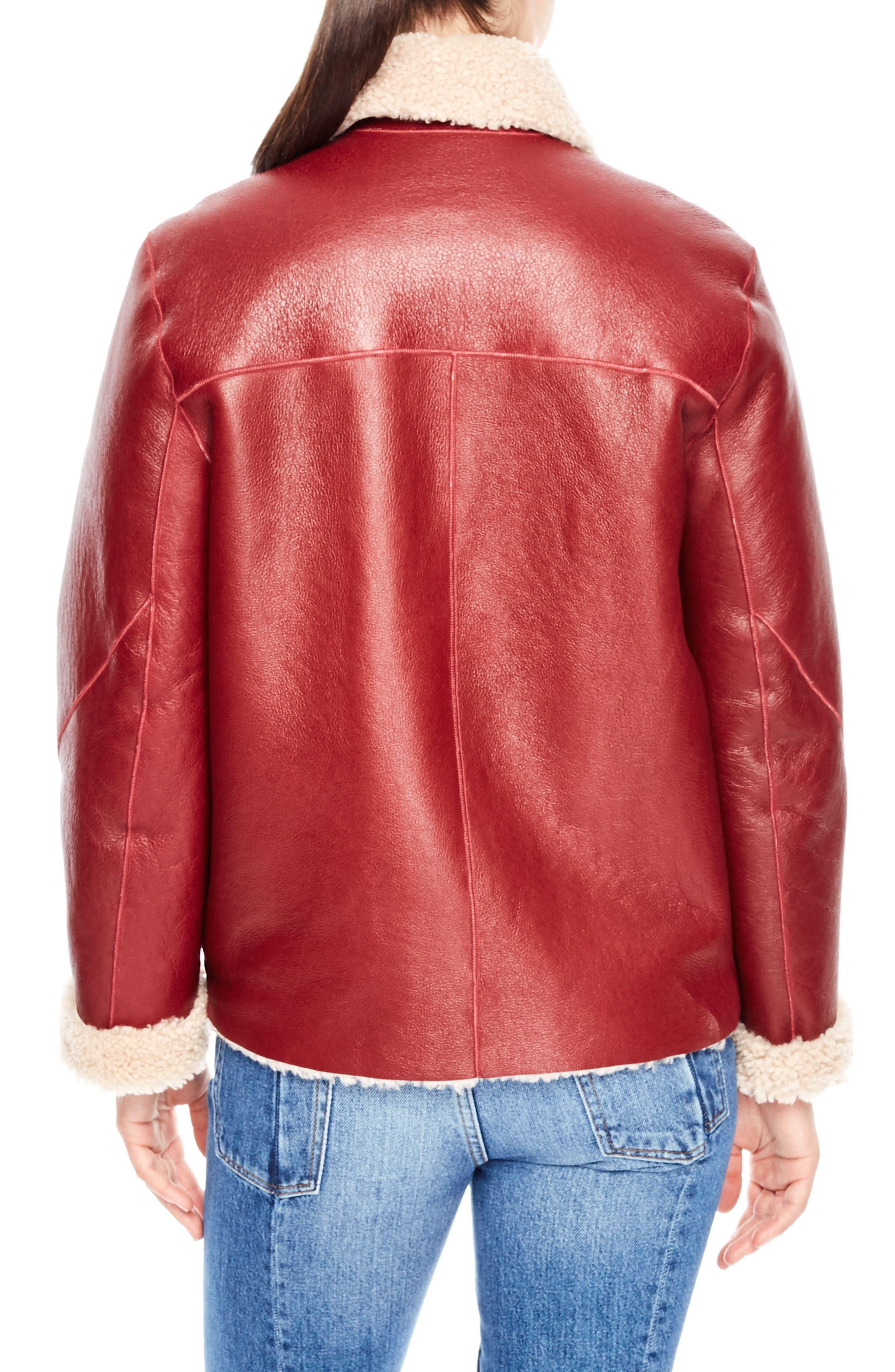 Alternate Image 2  - sandro Genuine Shearling Jacket