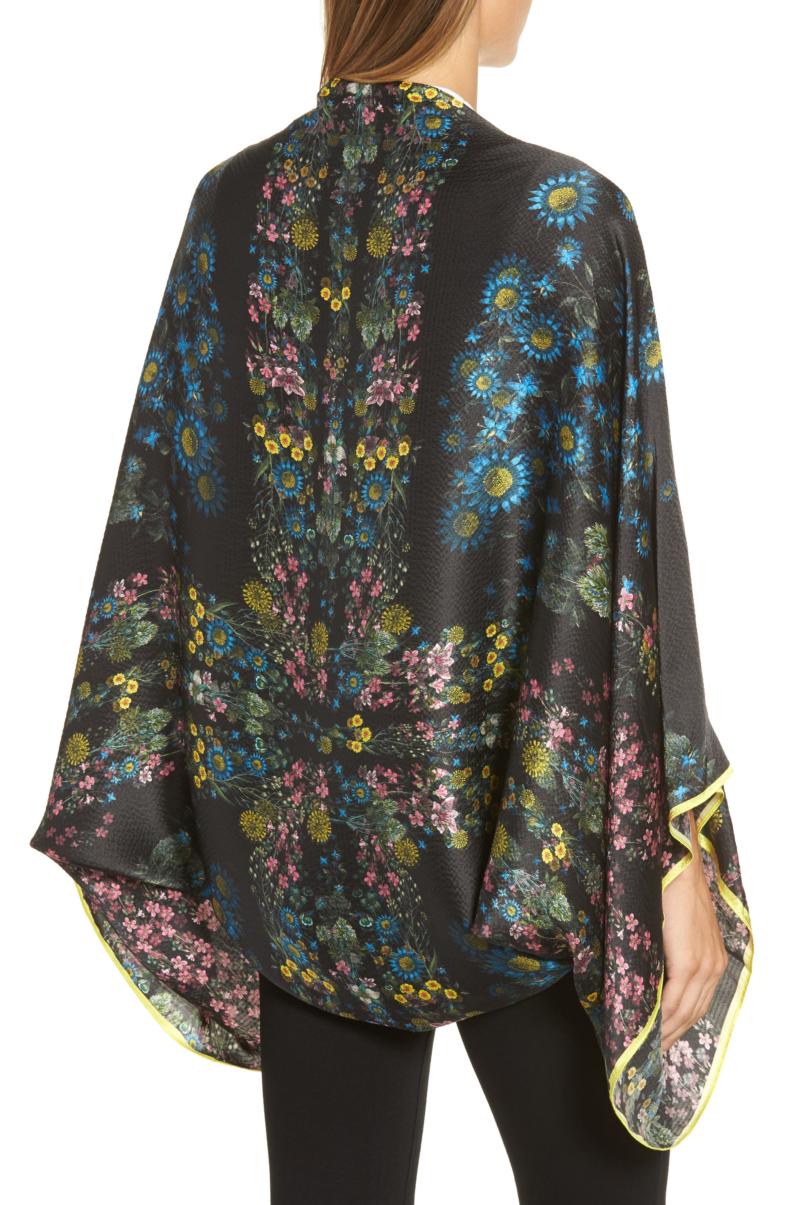 Alternate Image 2  - Ted Baker London Unity Floral Silk Cape Scarf