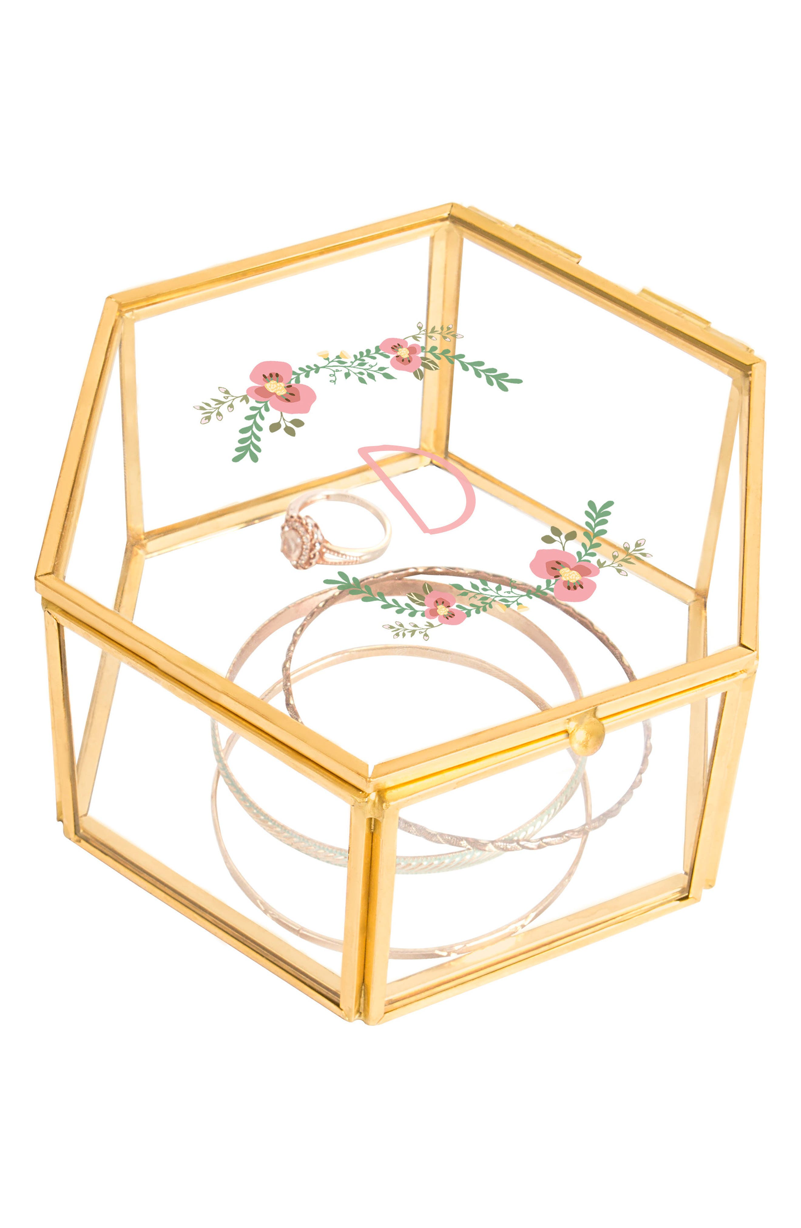 Alternate Image 2  - Cathy's Concepts Floral Monogram Keepsake Box