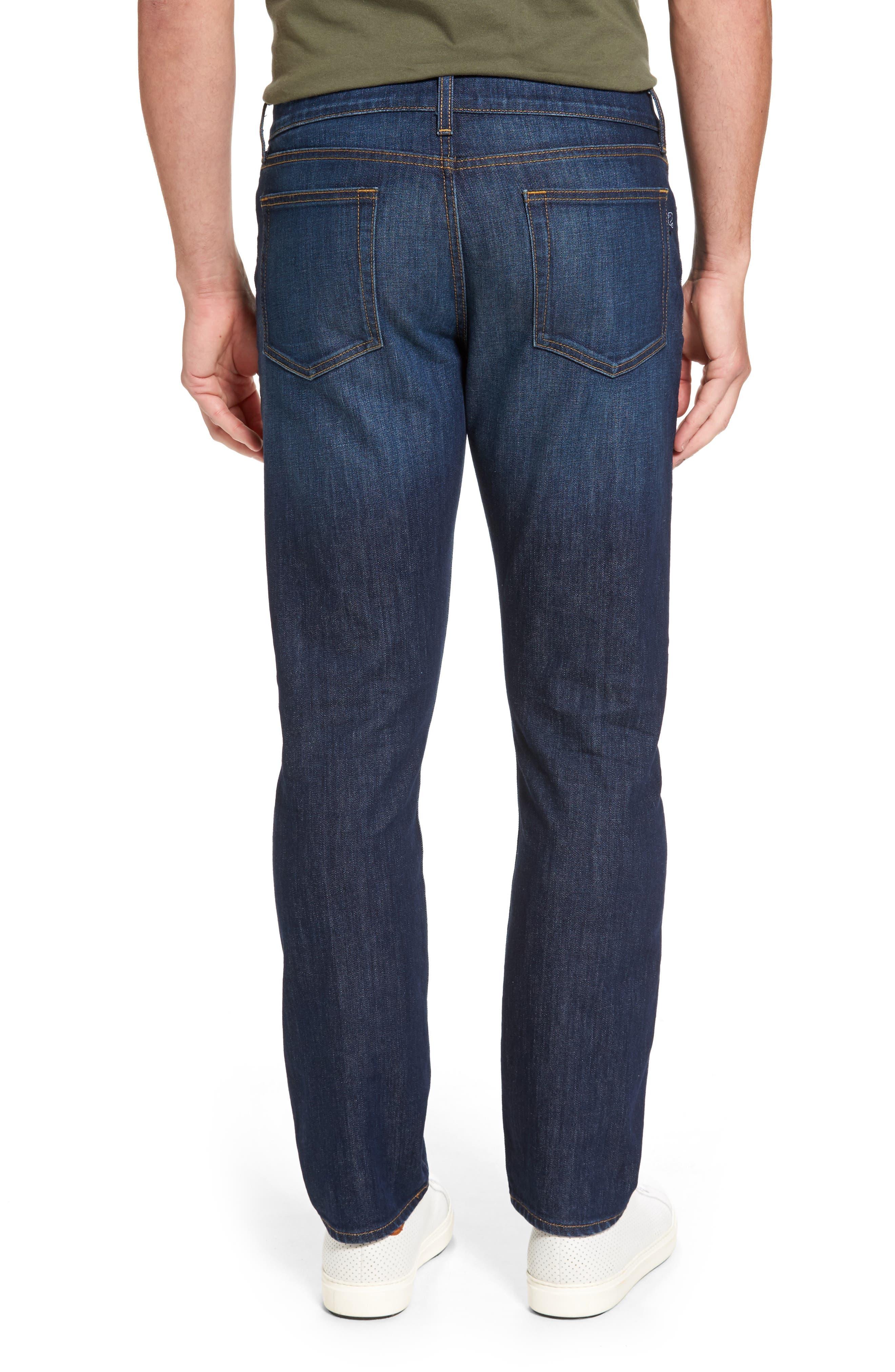 Slim Straight Leg Jeans,                             Alternate thumbnail 2, color,                             Hull Blue