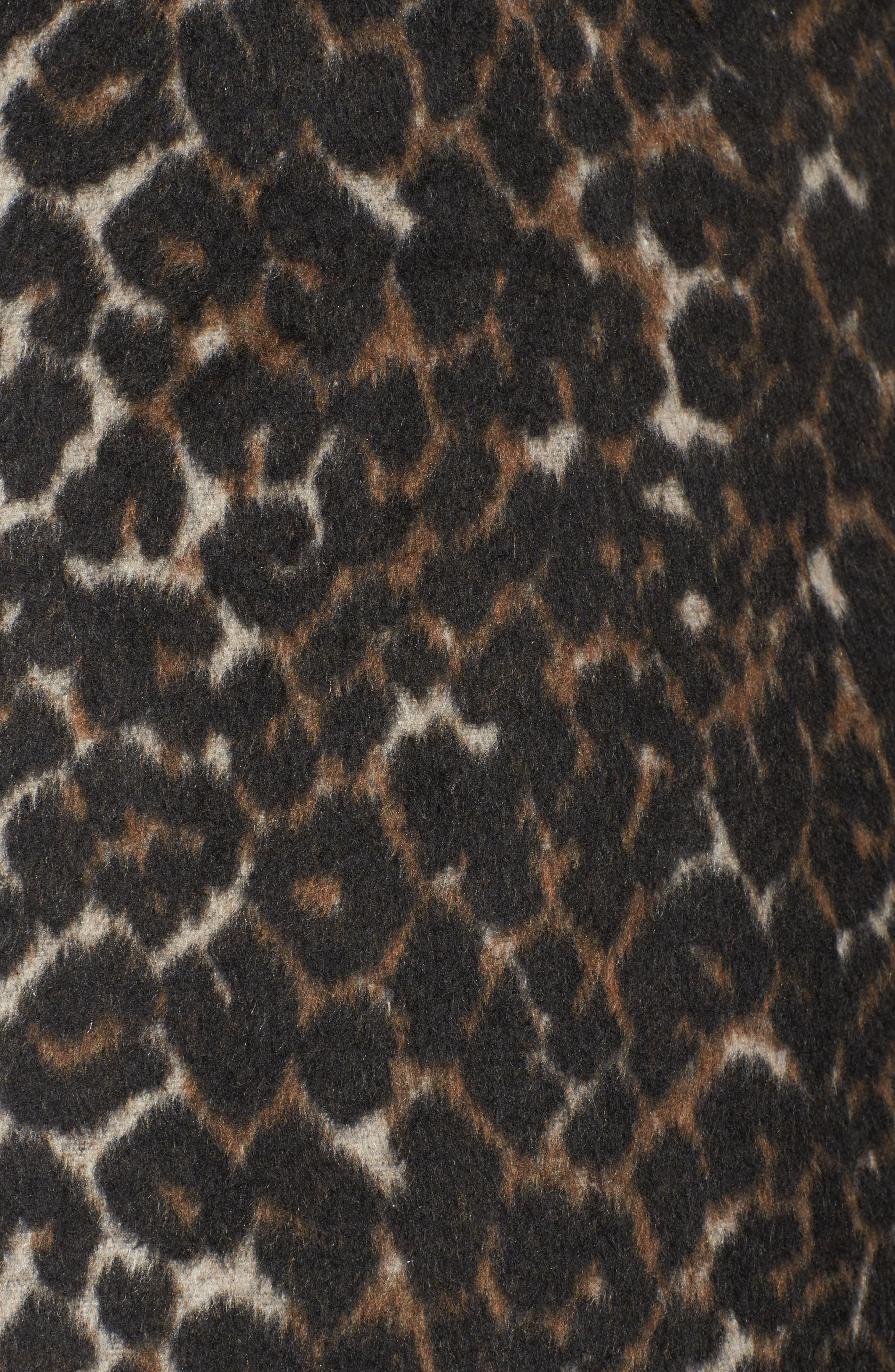 Alternate Image 5  - Sejour Leopard Print Jacket (Plus Size)