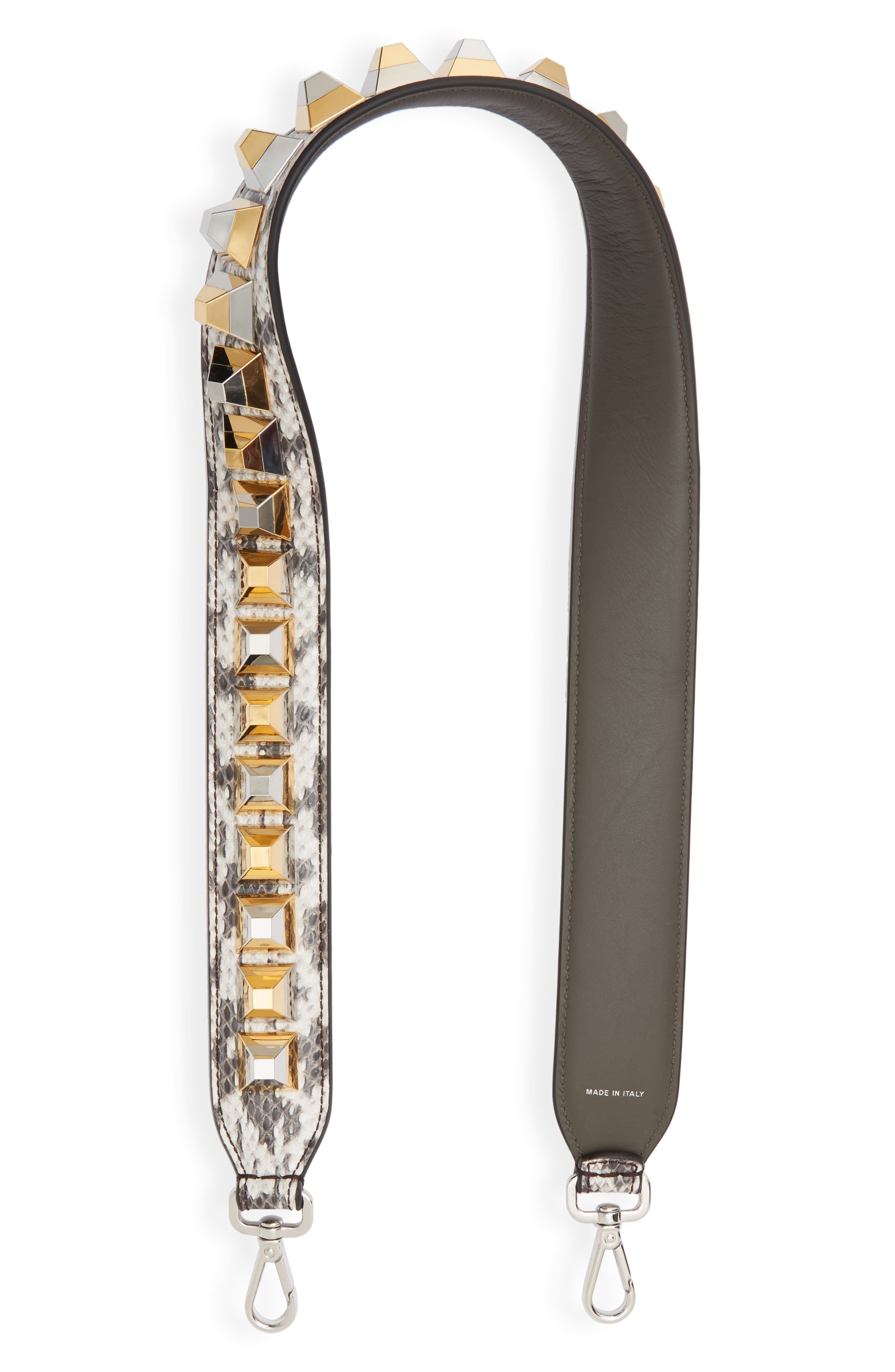 410467a35634 ... low price fendi strap you metallic studded leather guitar bag strap  b5592 9596c