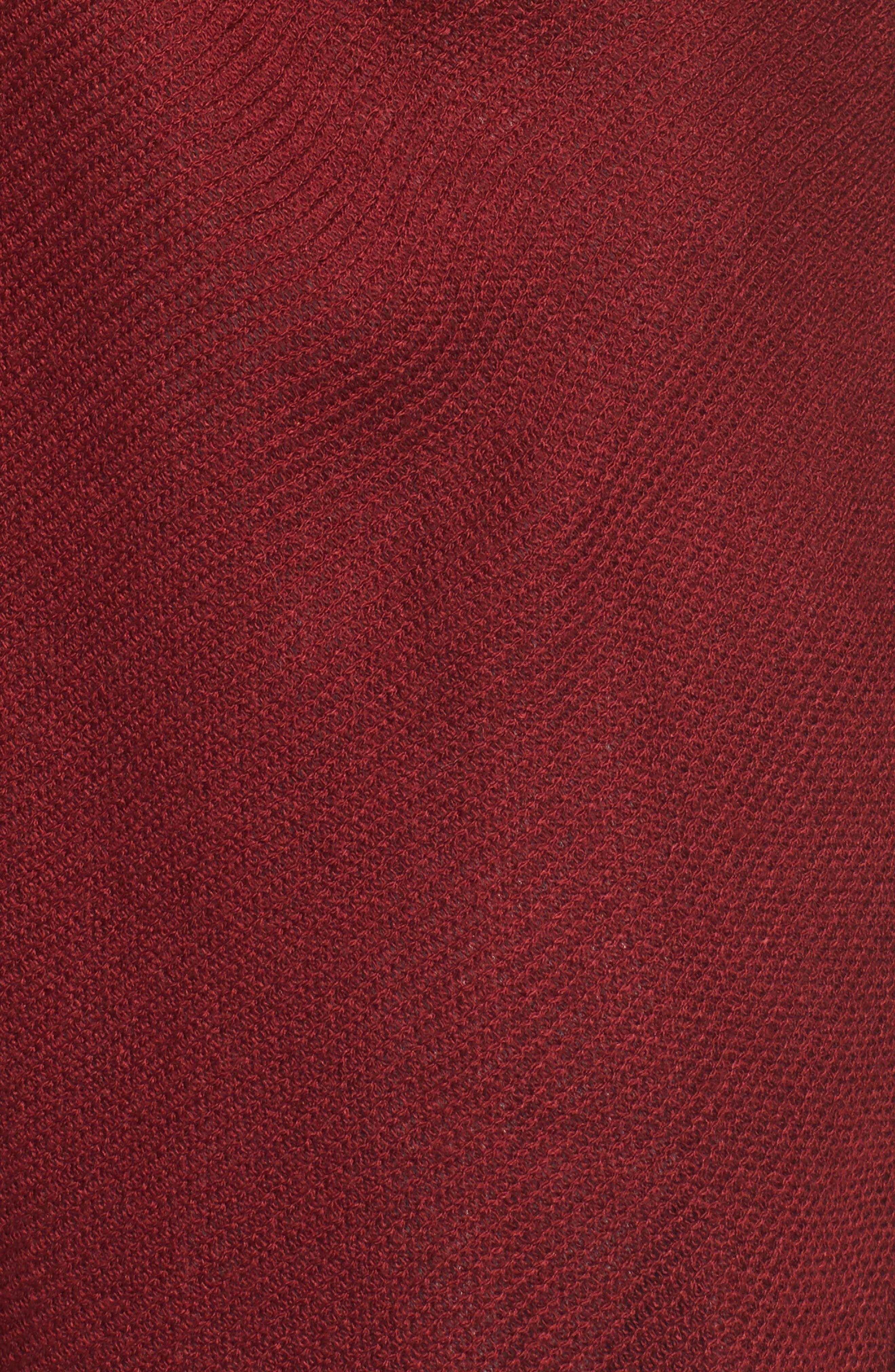 Chevron Cardigan,                             Alternate thumbnail 5, color,                             Burgundy