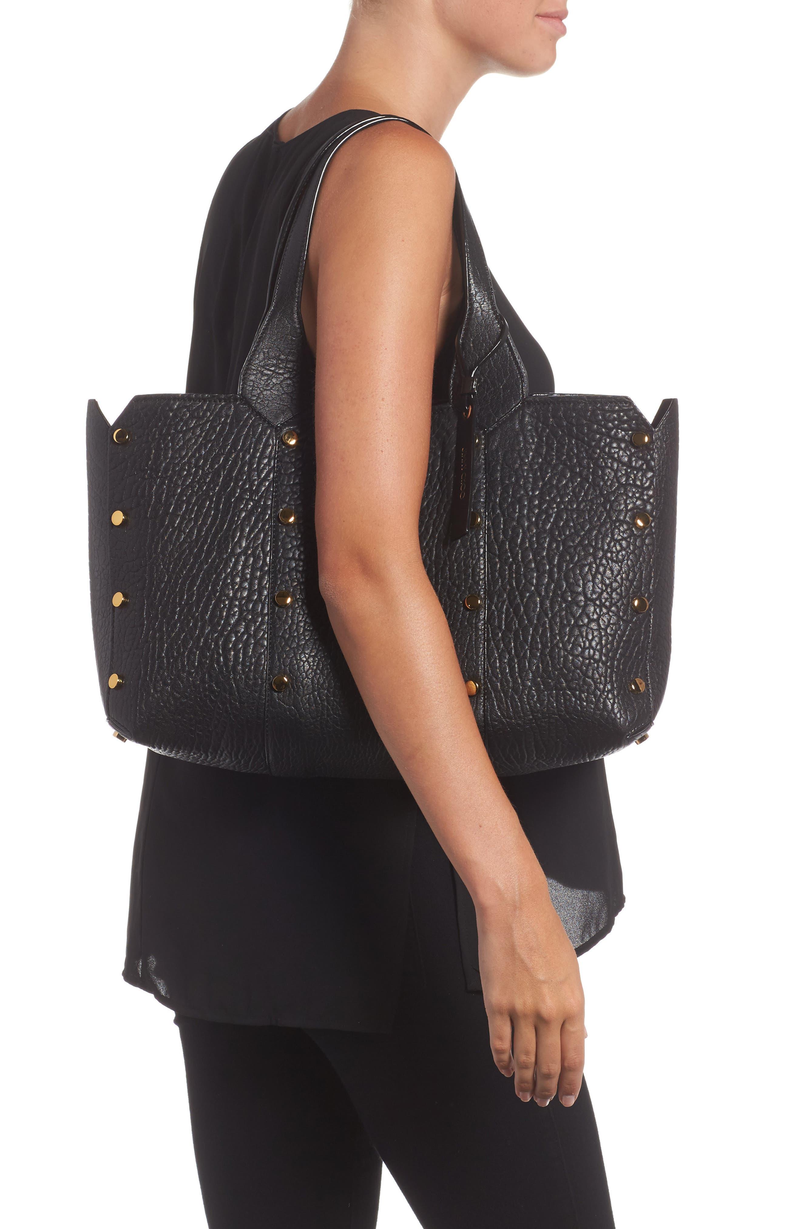 Lockett Leather Shopper,                             Alternate thumbnail 2, color,                             Black