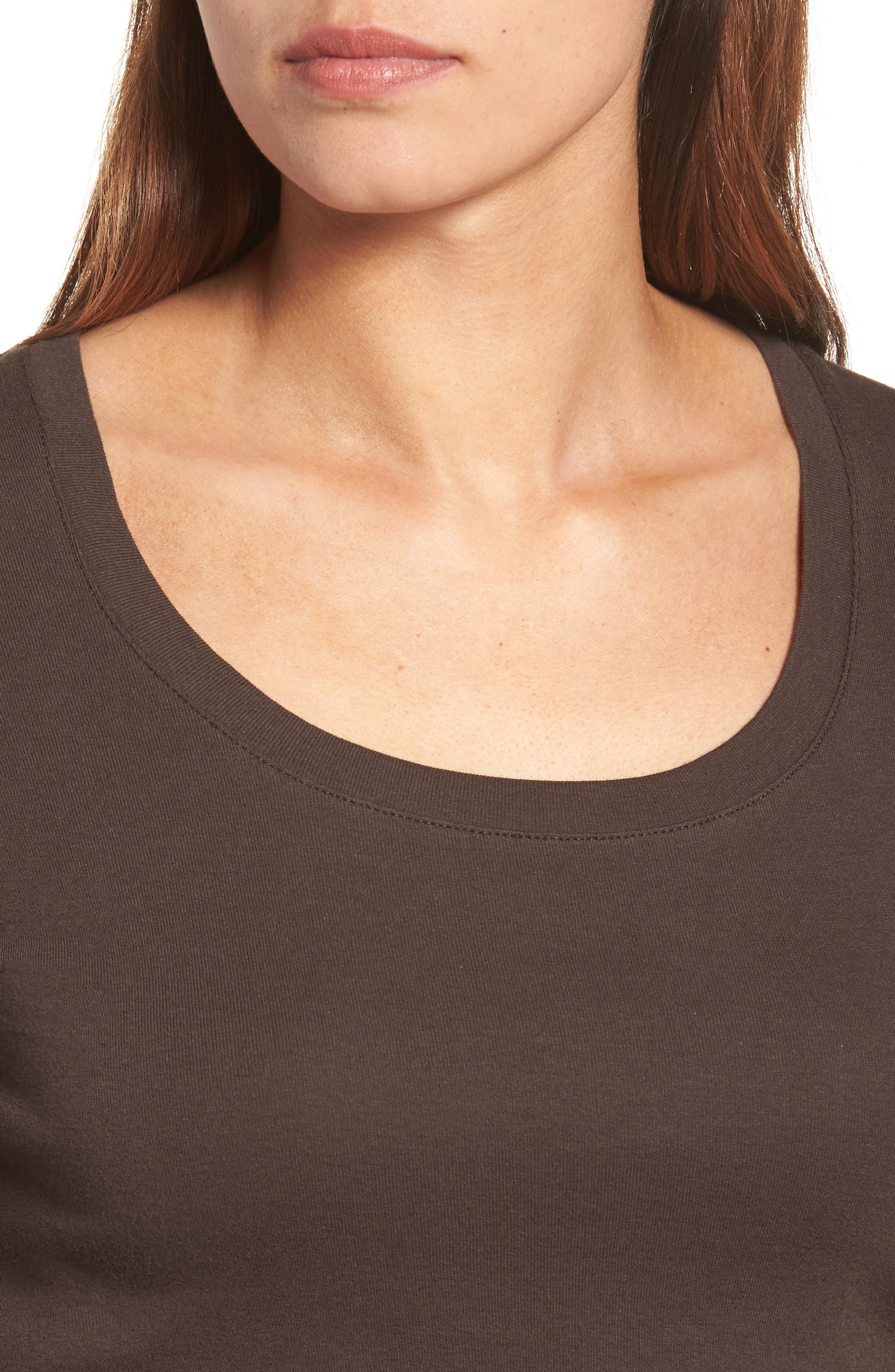 Alternate Image 4  - Caslon® 'Melody' Long Sleeve Scoop Neck Tee (Regular & Petite)