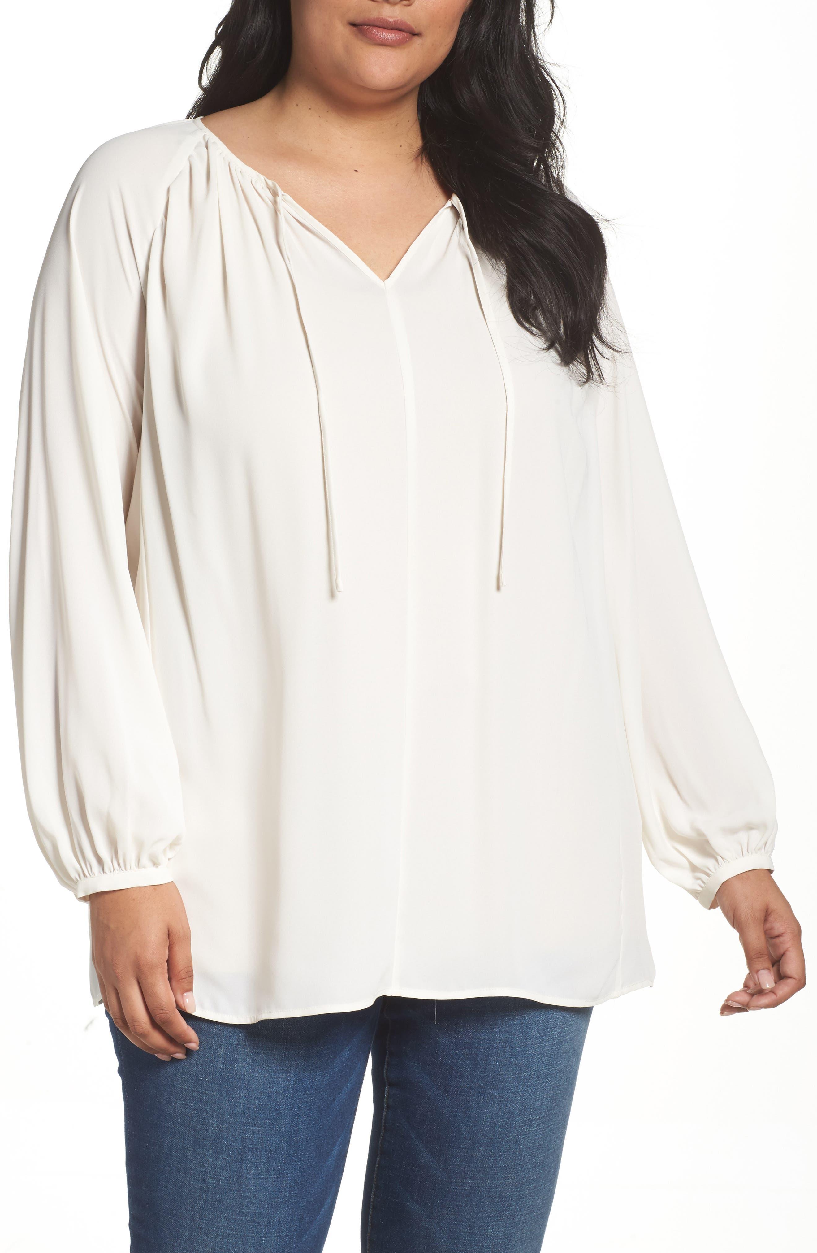 Sejour Raglan Sleeve Poet Tunic (Plus Size)