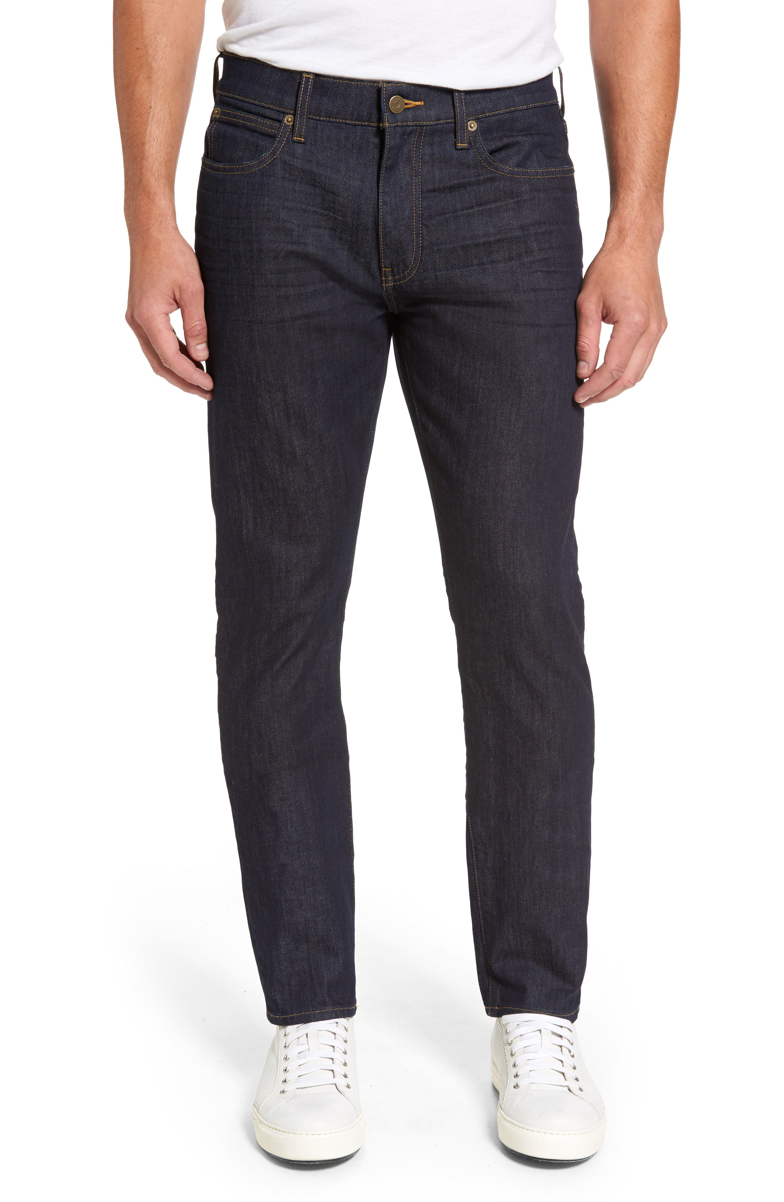 Straight Leg Jeans,                         Main,                         color, Baltic Blue
