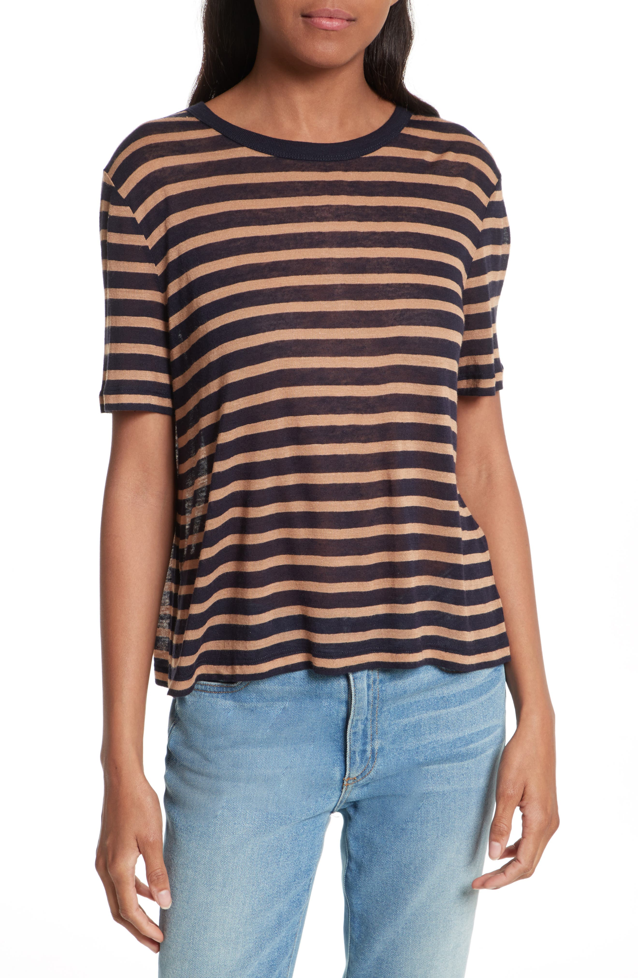 T by Alexander Wang Stripe Crop Tee