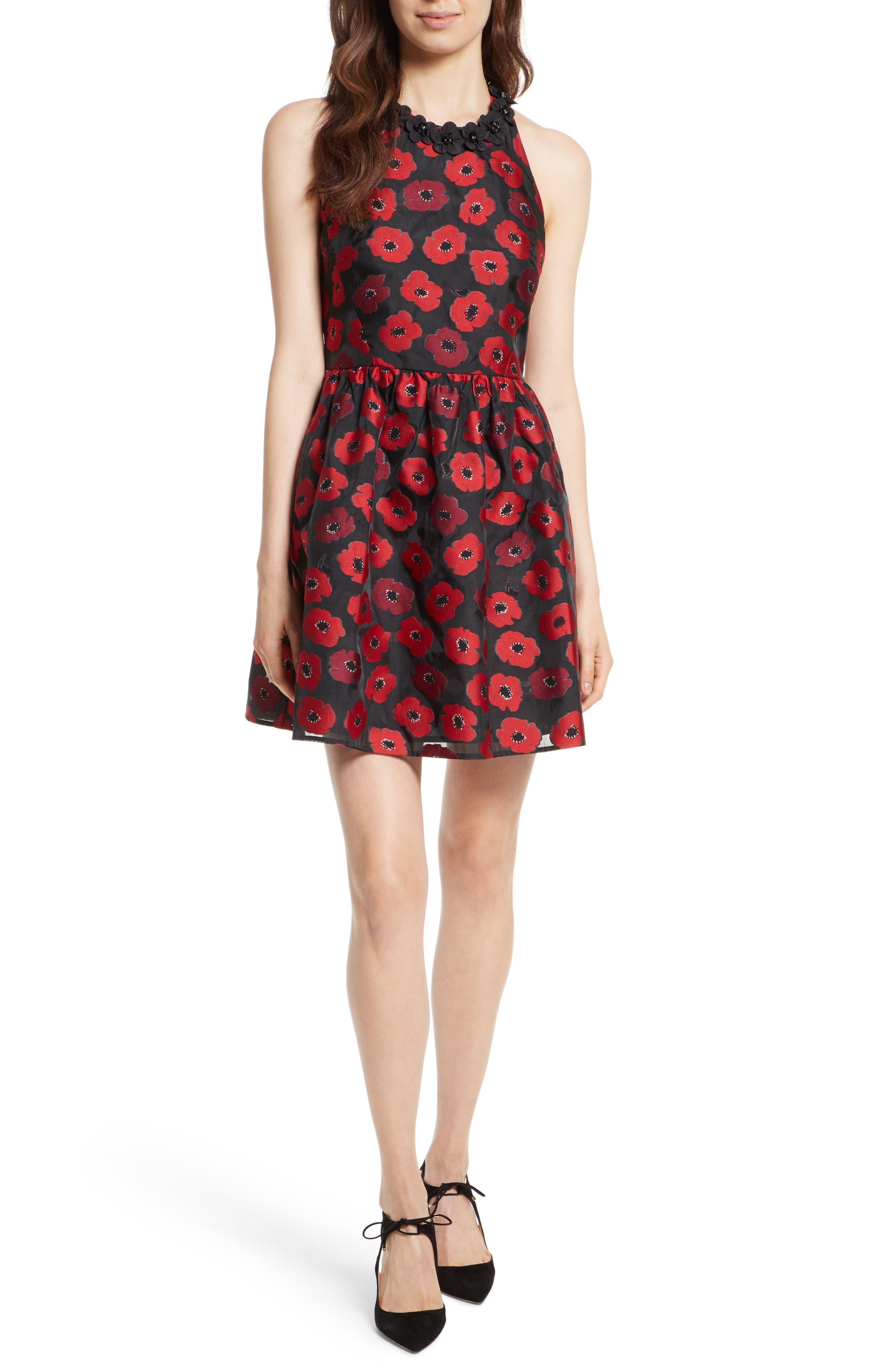 kate spade new york poppy jacquard dress