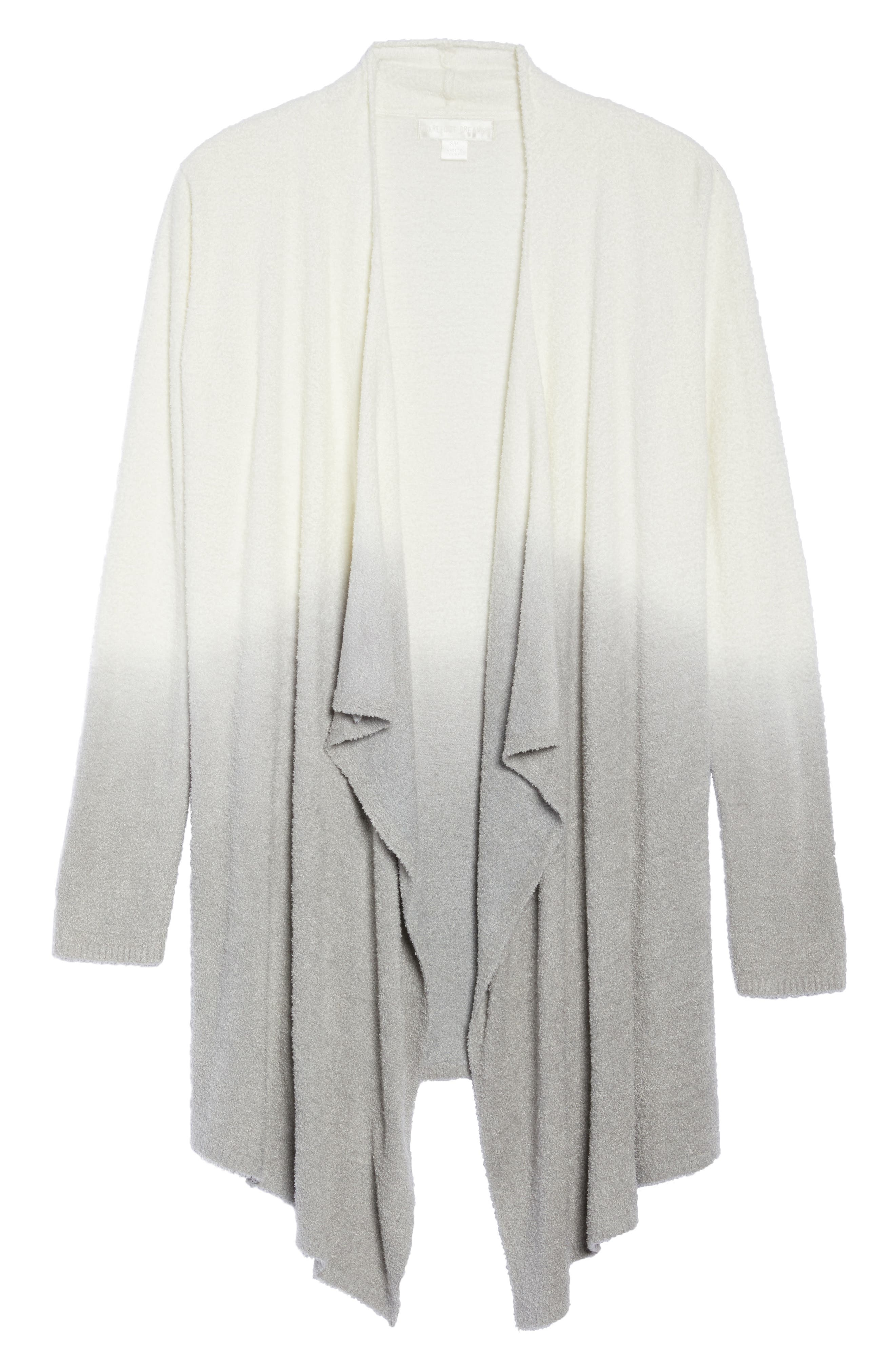 CozyChic Lite<sup>®</sup> Calypso Wrap Cardigan,                             Alternate thumbnail 6, color,                             White/ Pewter Ombre
