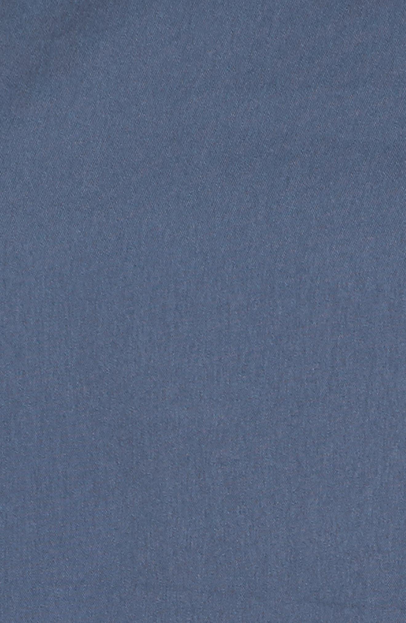 Tie Front Blouse,                             Alternate thumbnail 4, color,                             Blue