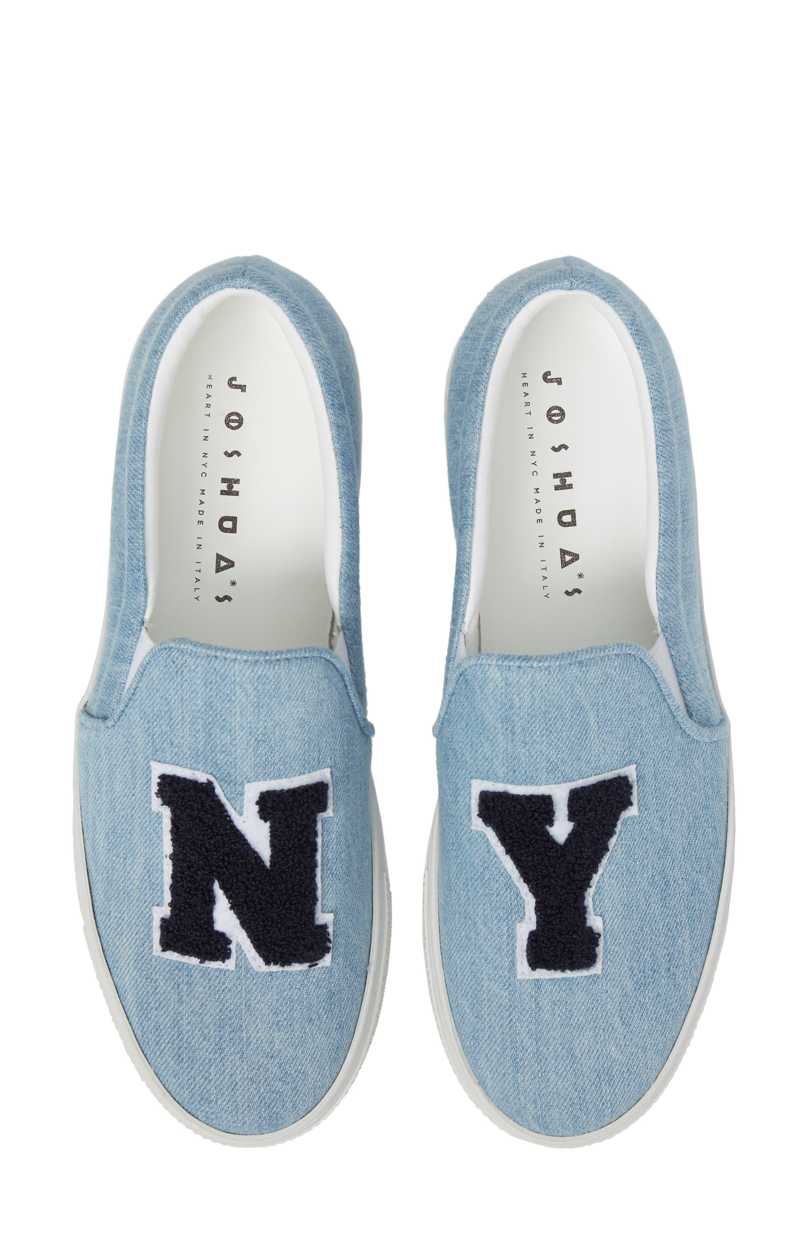 Slip-On Sneaker,                             Main thumbnail 1, color,                             Light Denim